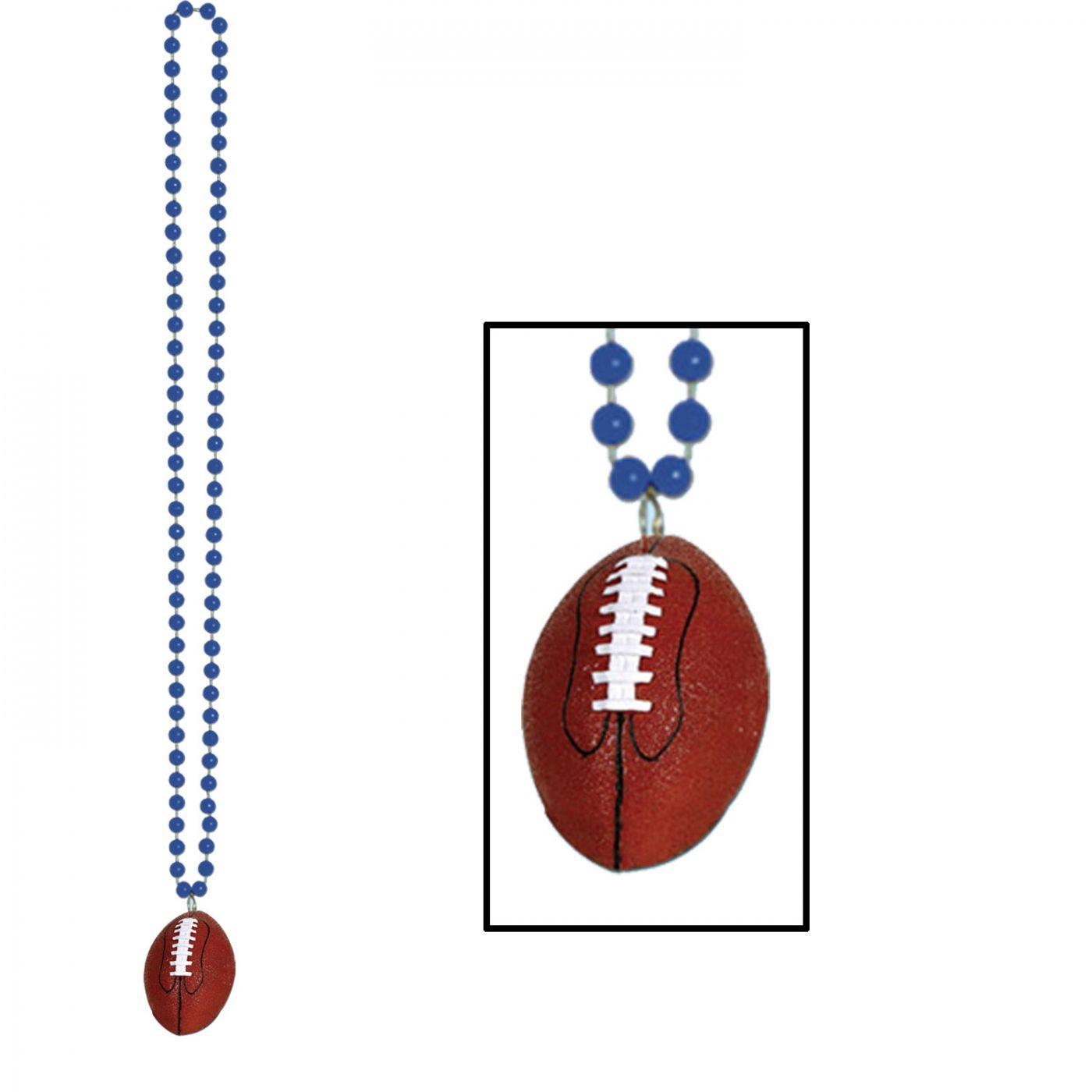 Beads w/Football Medallion image