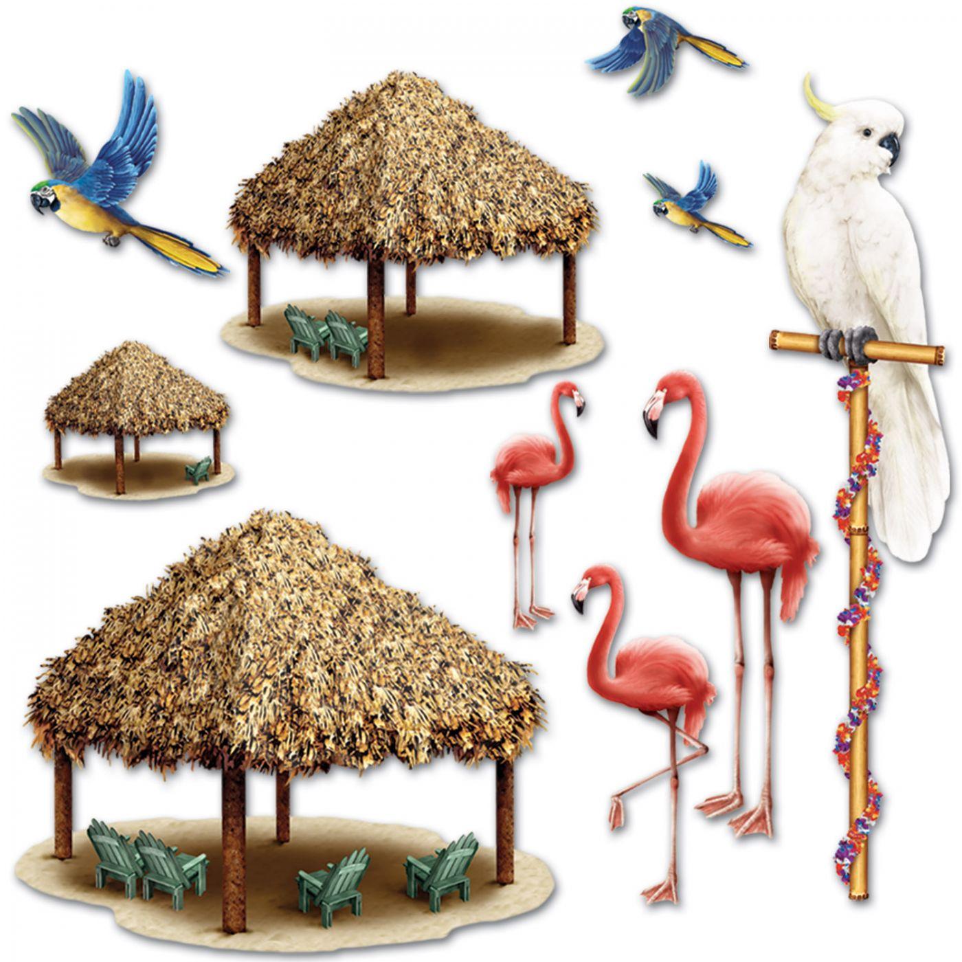 Tiki Hut & Tropical Bird Props image