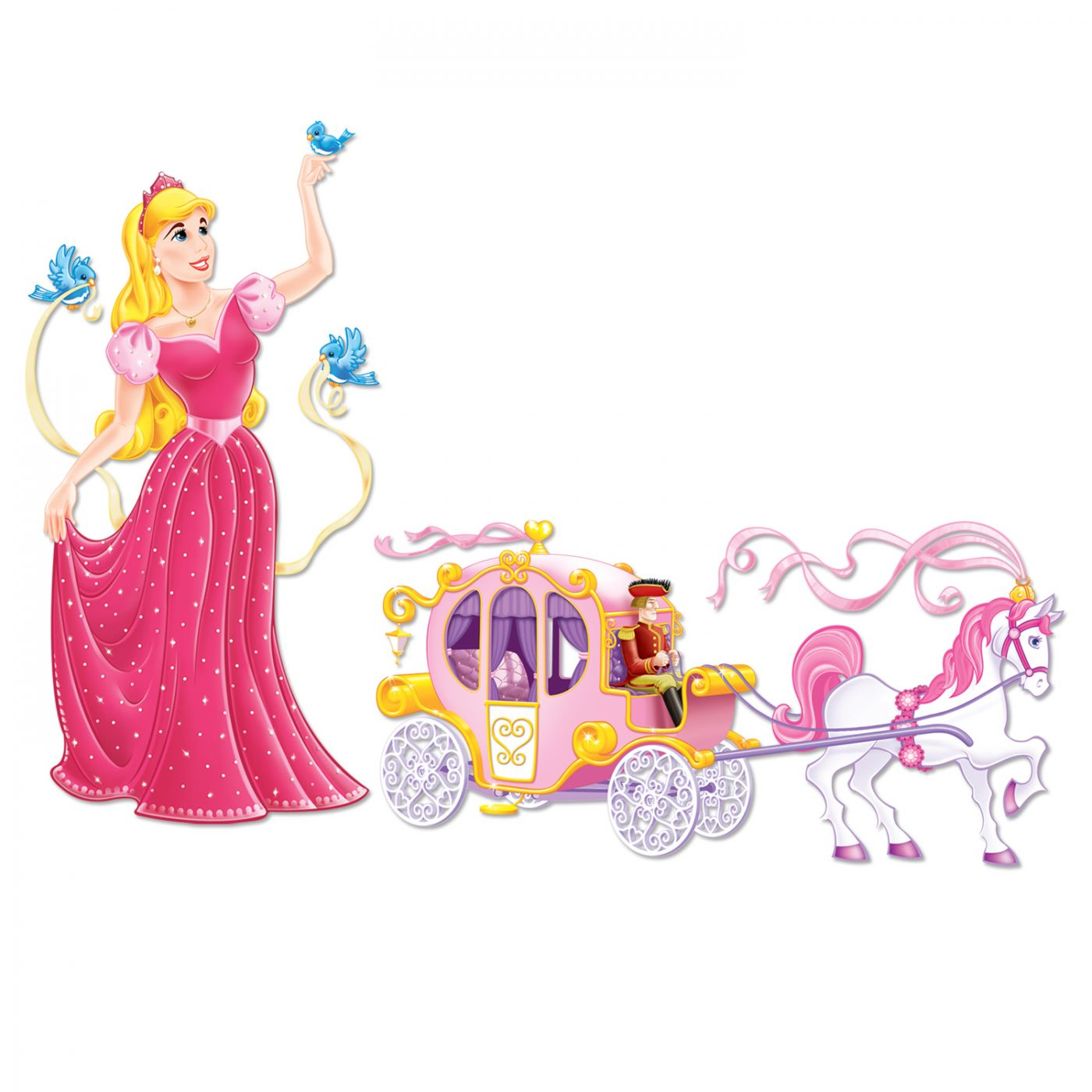 Princess & Carriage Props image