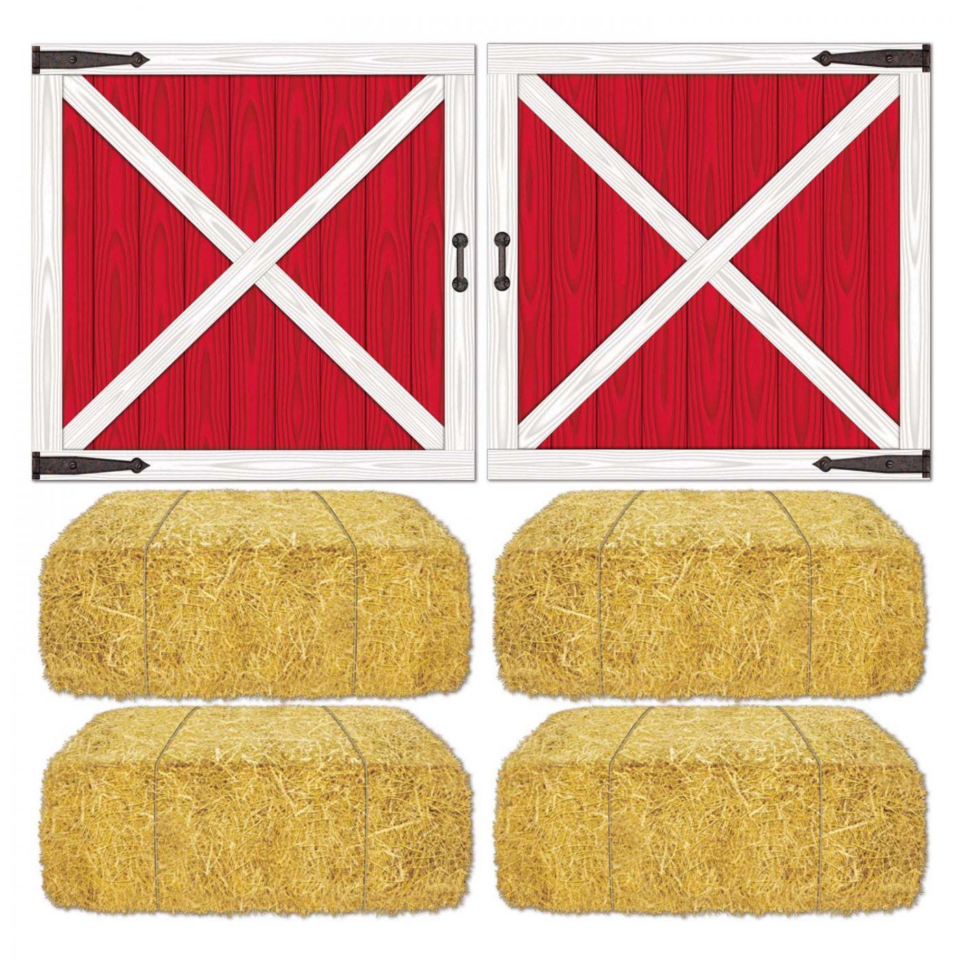 Image of Barn Loft Door & Hay Bale Props