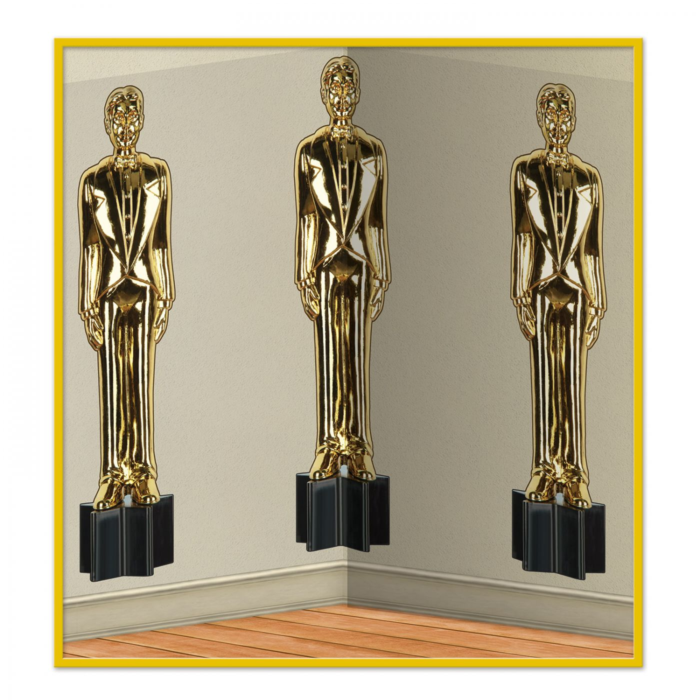 Image of Awards Night Male Statuettes Backdrop (6)