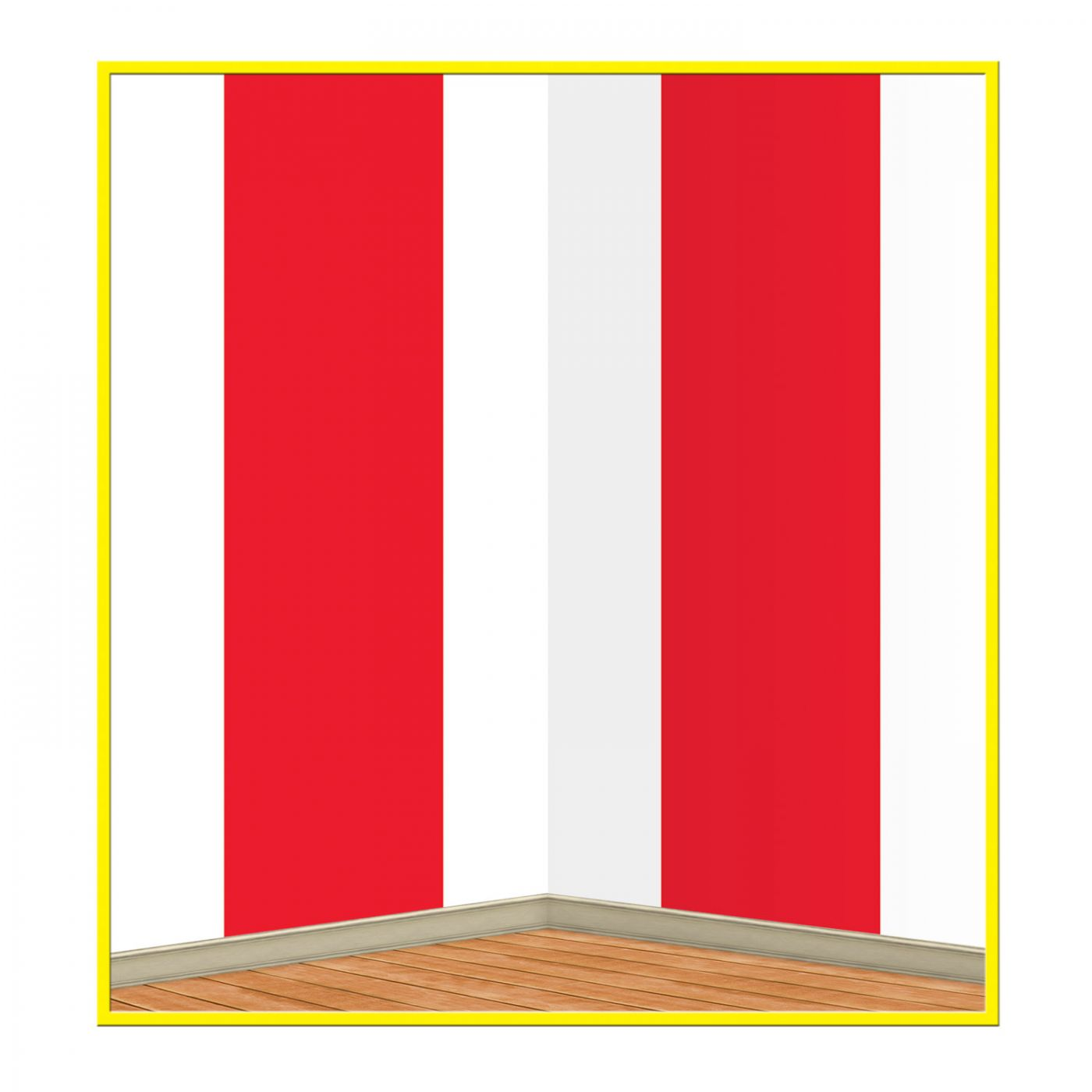 Red & White Stripes Backdrop (6) image
