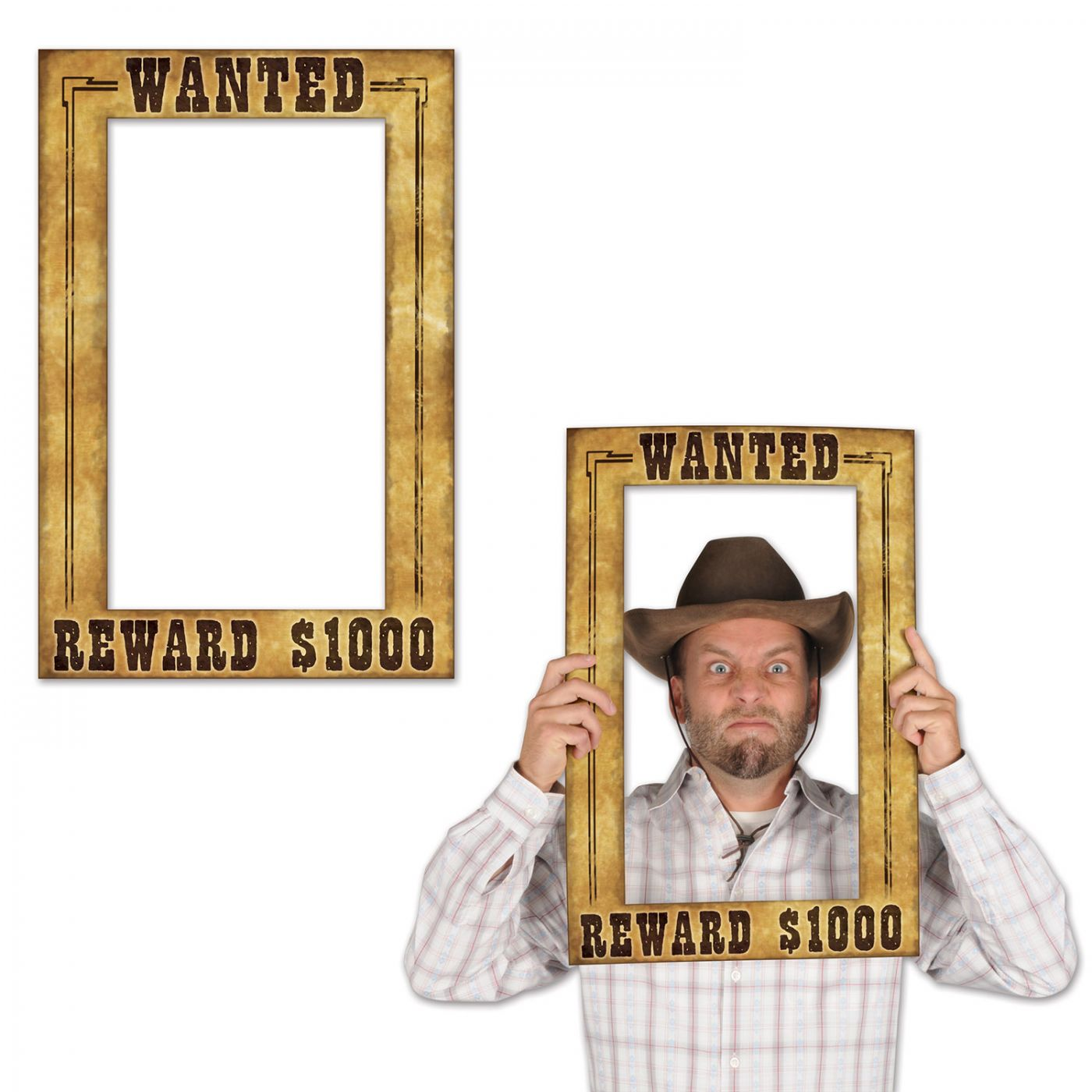 Western Wanted Photo Fun Frame image