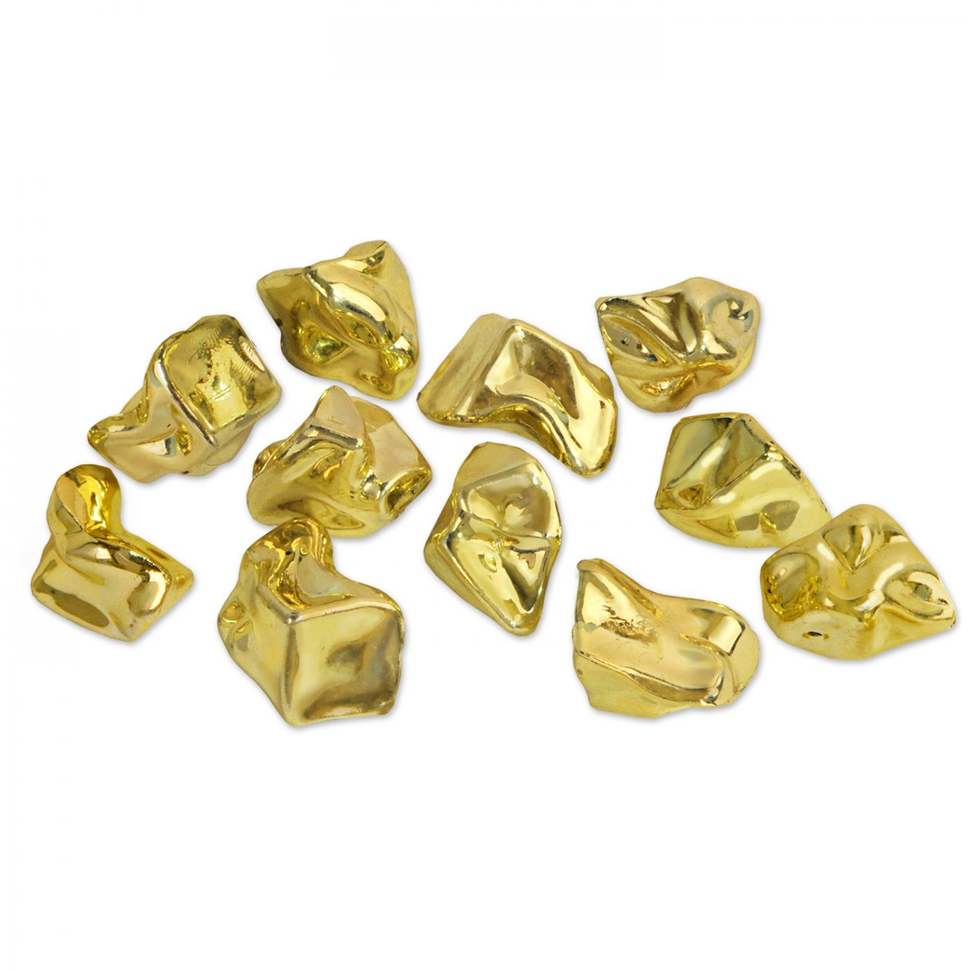 Plastic Gold Nuggets (24) image