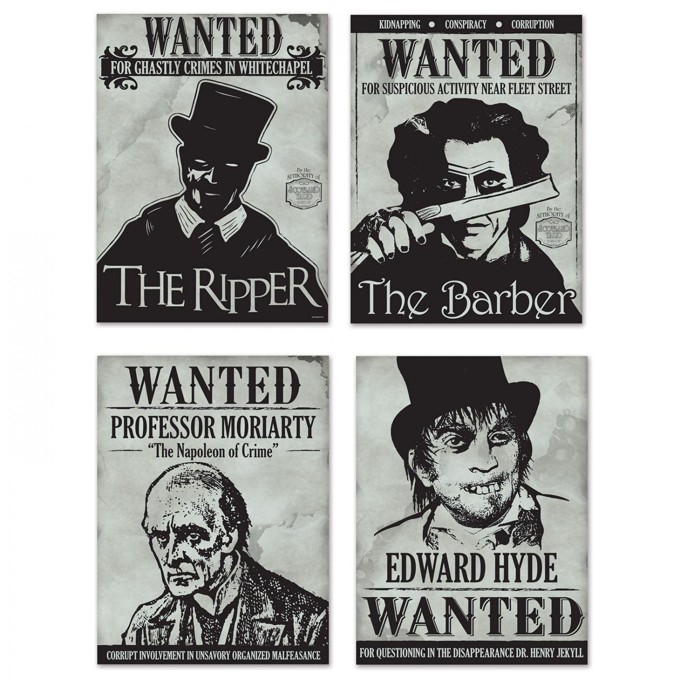 Image of Sherlock Holmes Wanted Sign Cutouts
