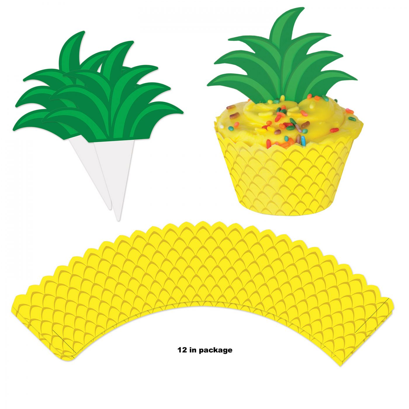 Pineapple Cupcake Wrappers image