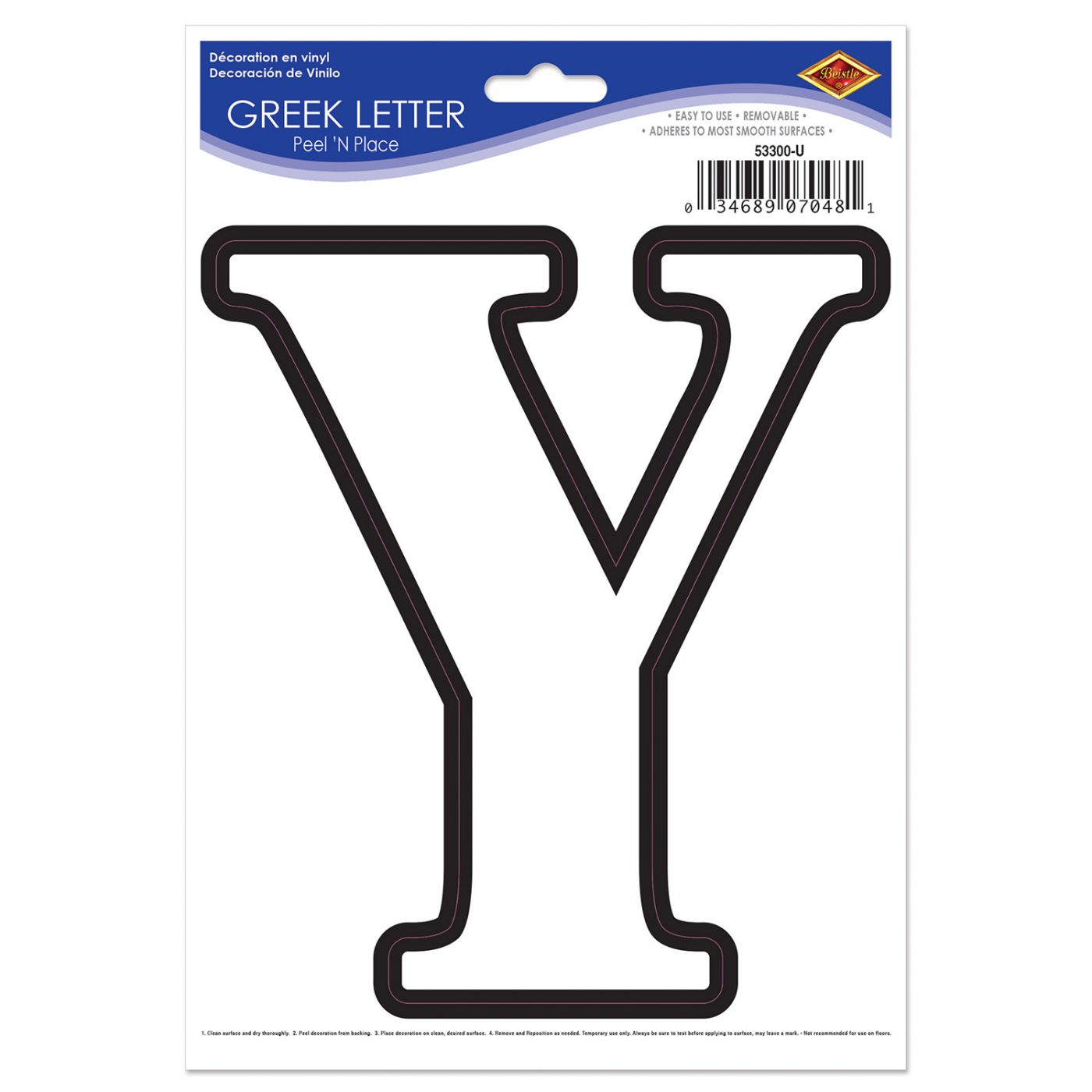 Greek Letter Peel 'N Place image