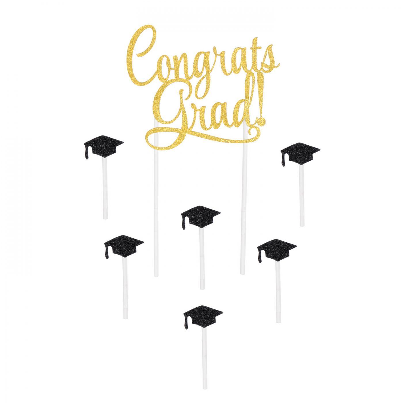 Congrats Grad! Cake Topper image