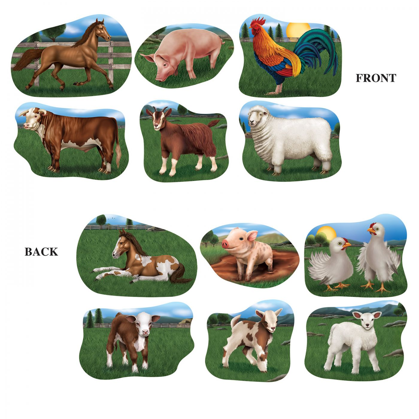 Farm Animal Cutouts image