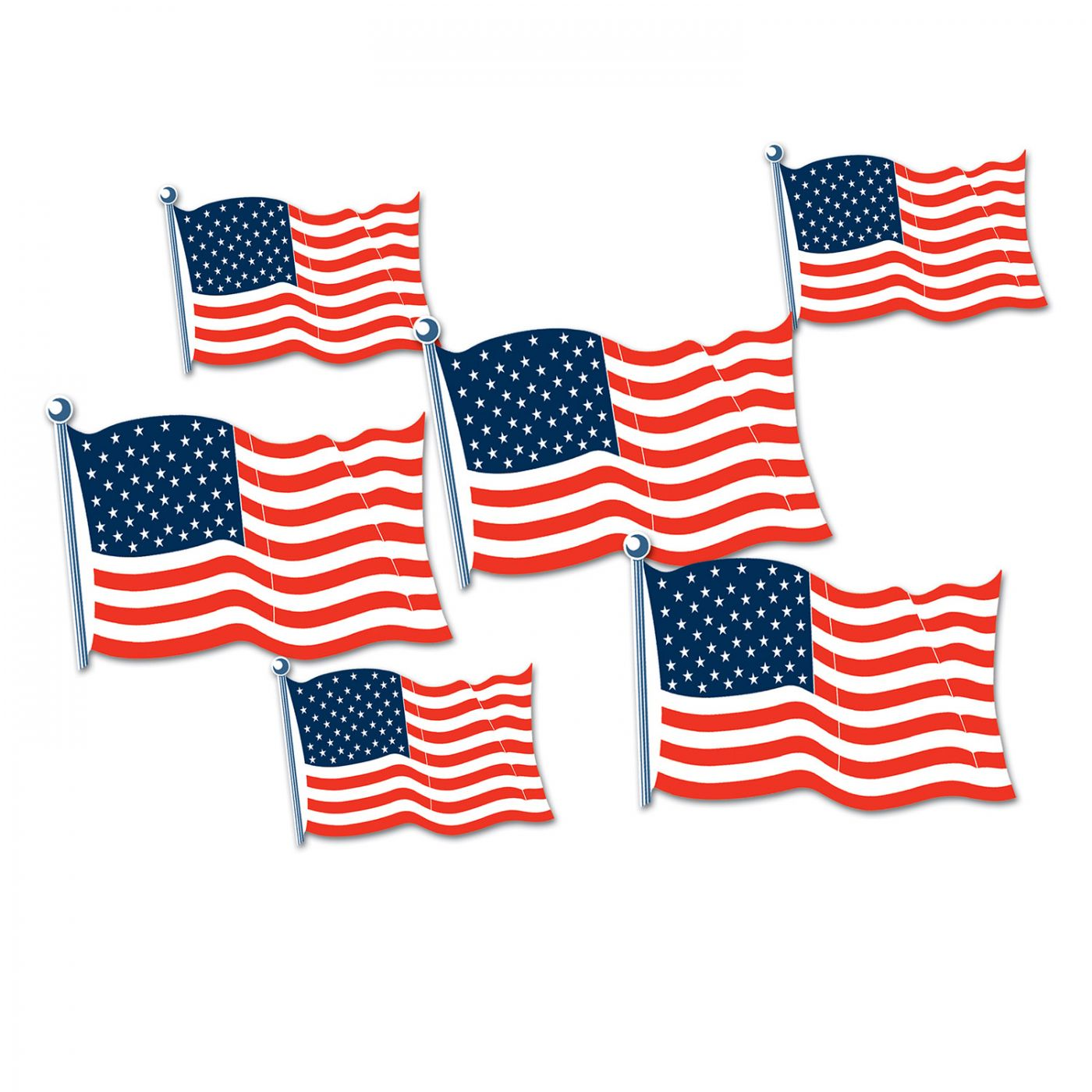 Image of American Flag Cutouts