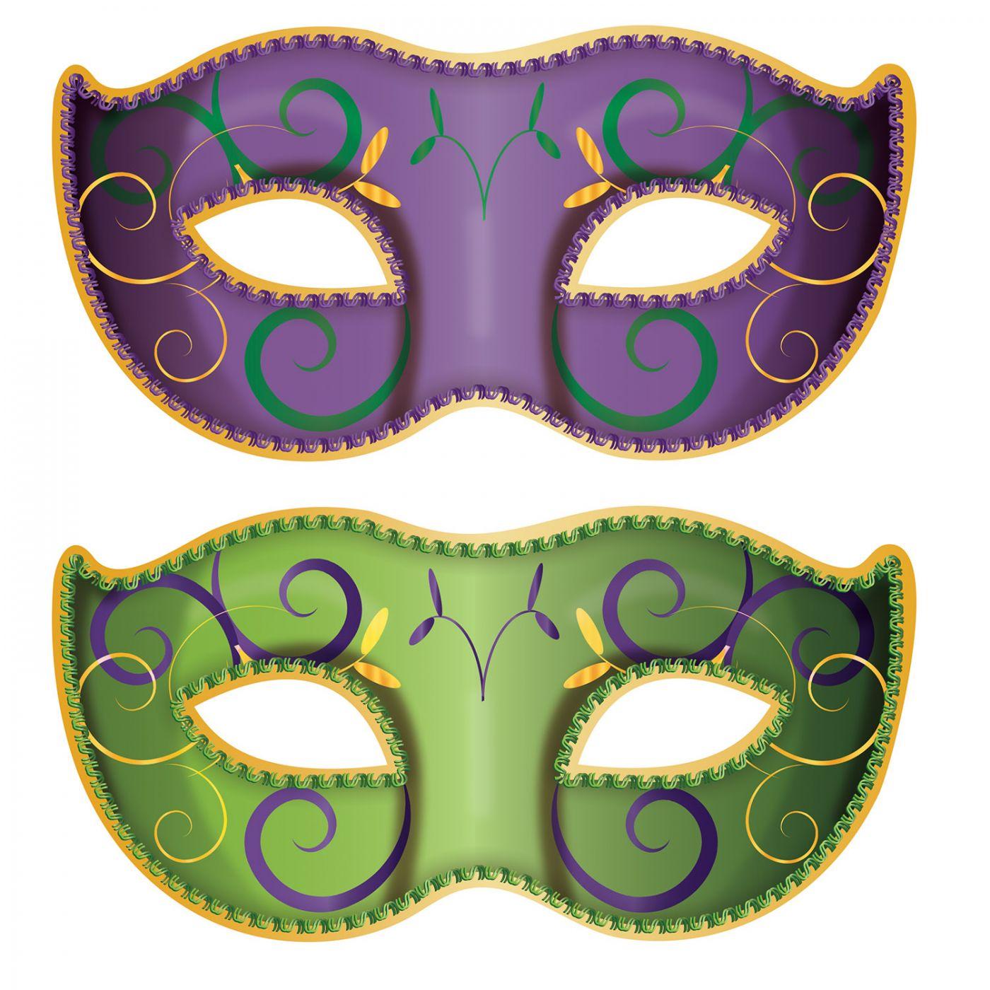Jumbo Mardi Gras Mask Cutouts image