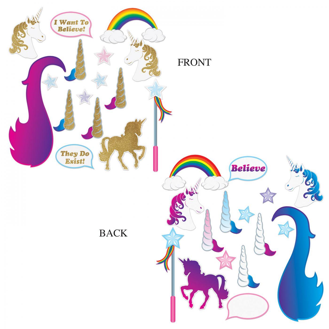 Unicorn Glittered Photo Fun Signs image