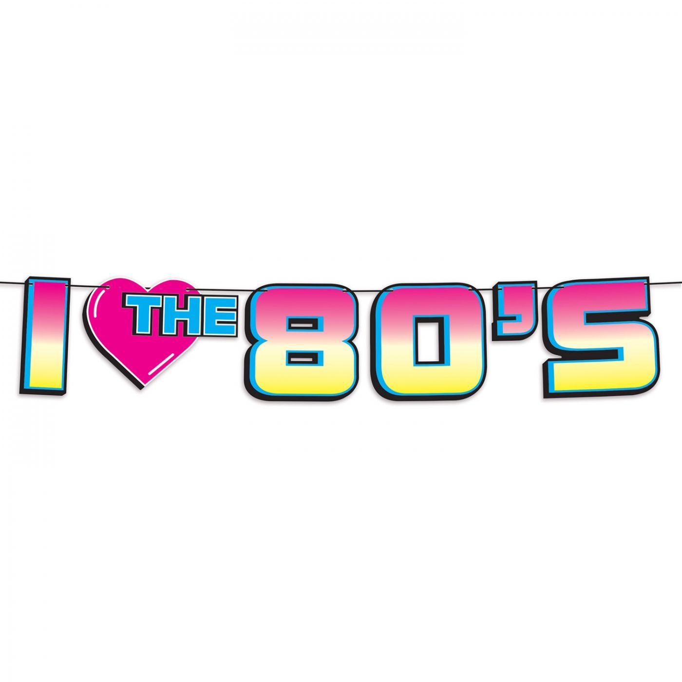 I Love The 80's Streamer image