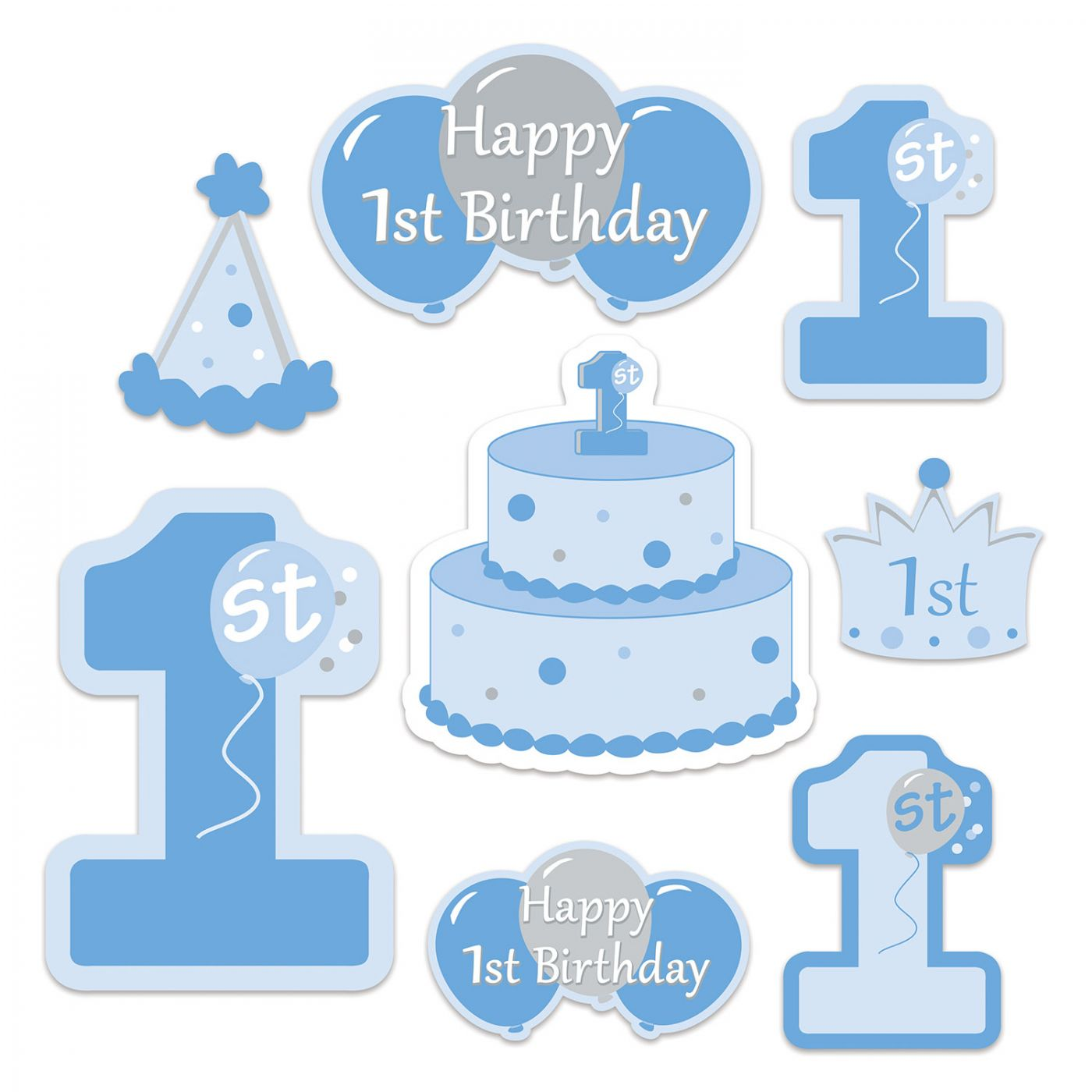 Image of 1st Birthday Cutouts