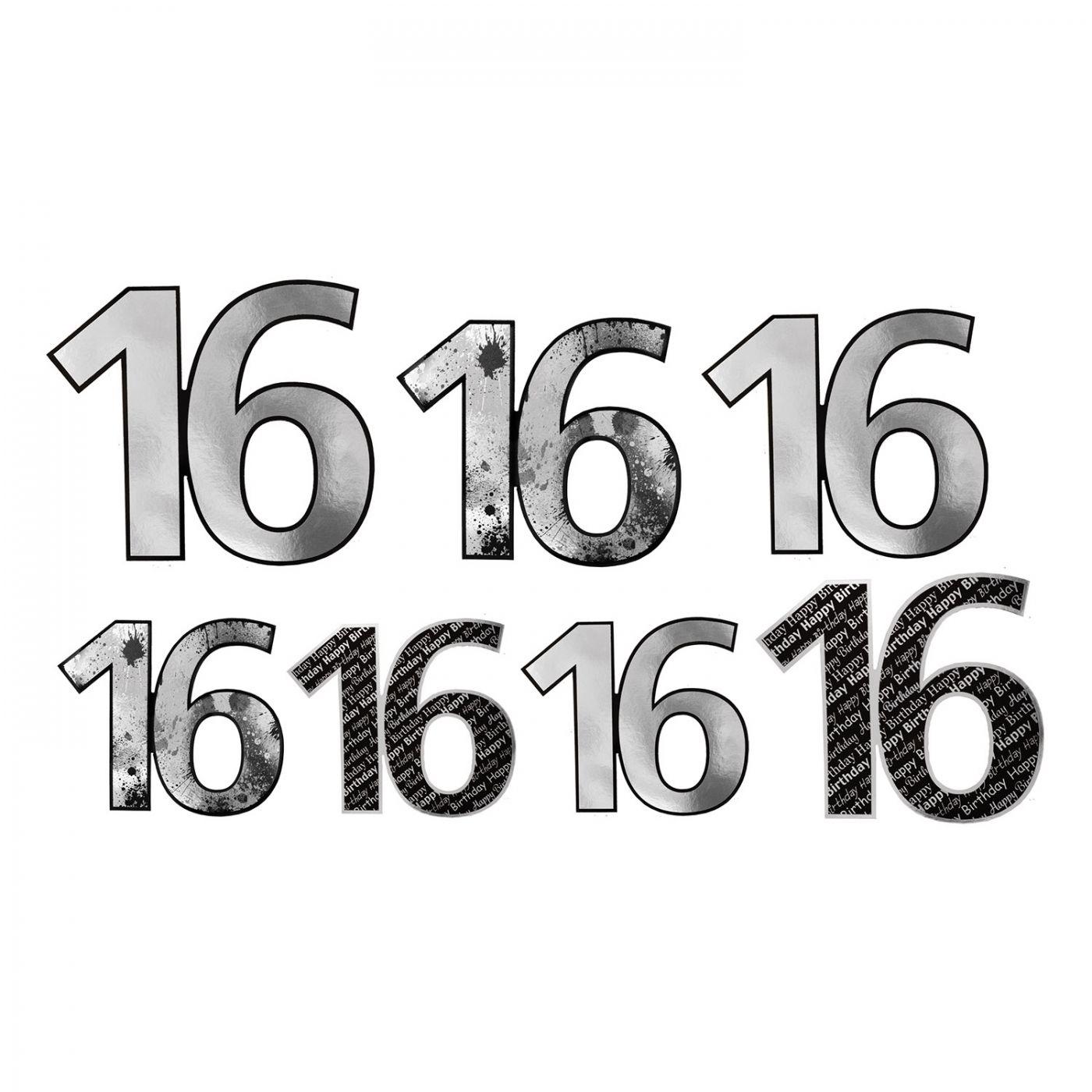 Image of  16  Foil Cutouts