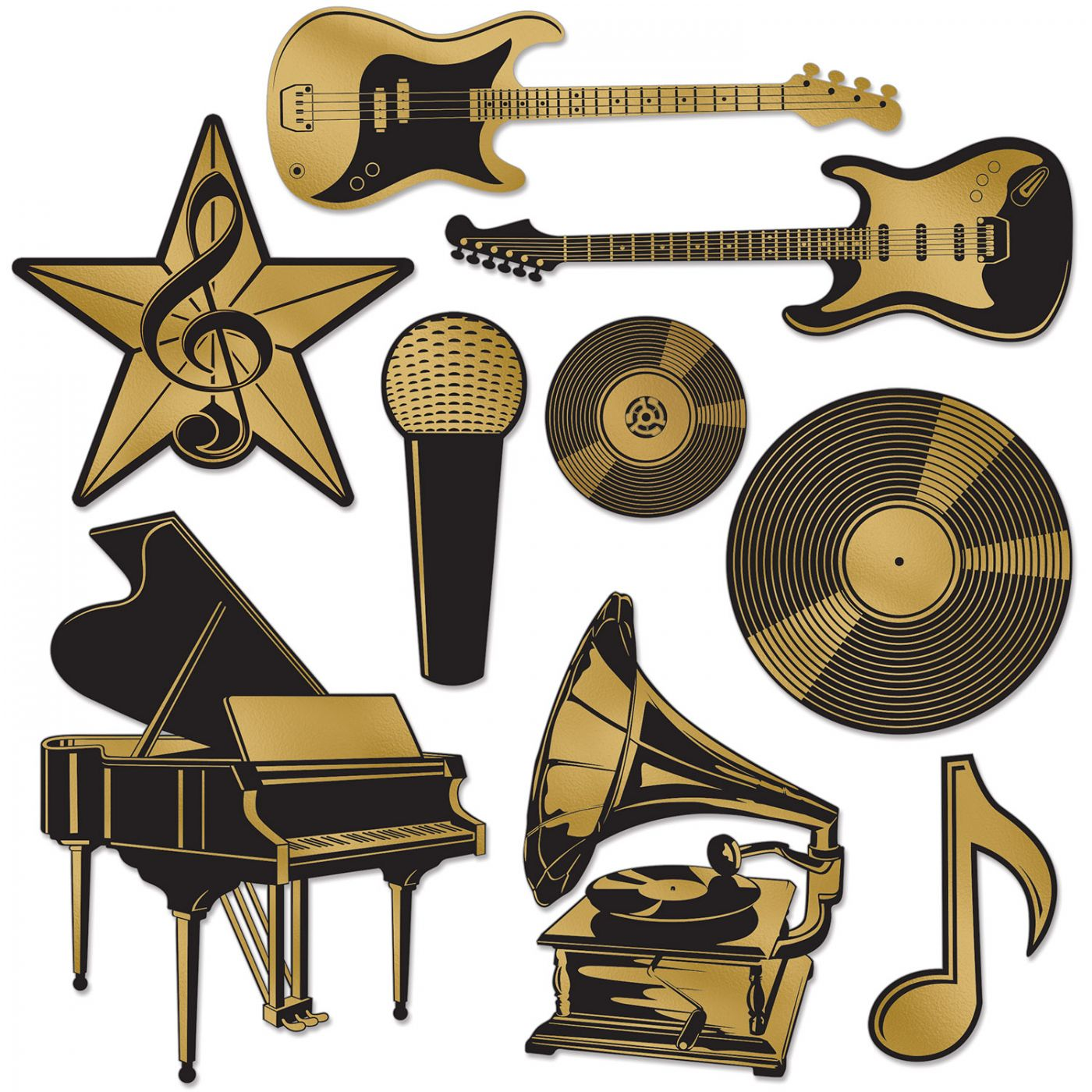 Foil Music Award Cutouts image