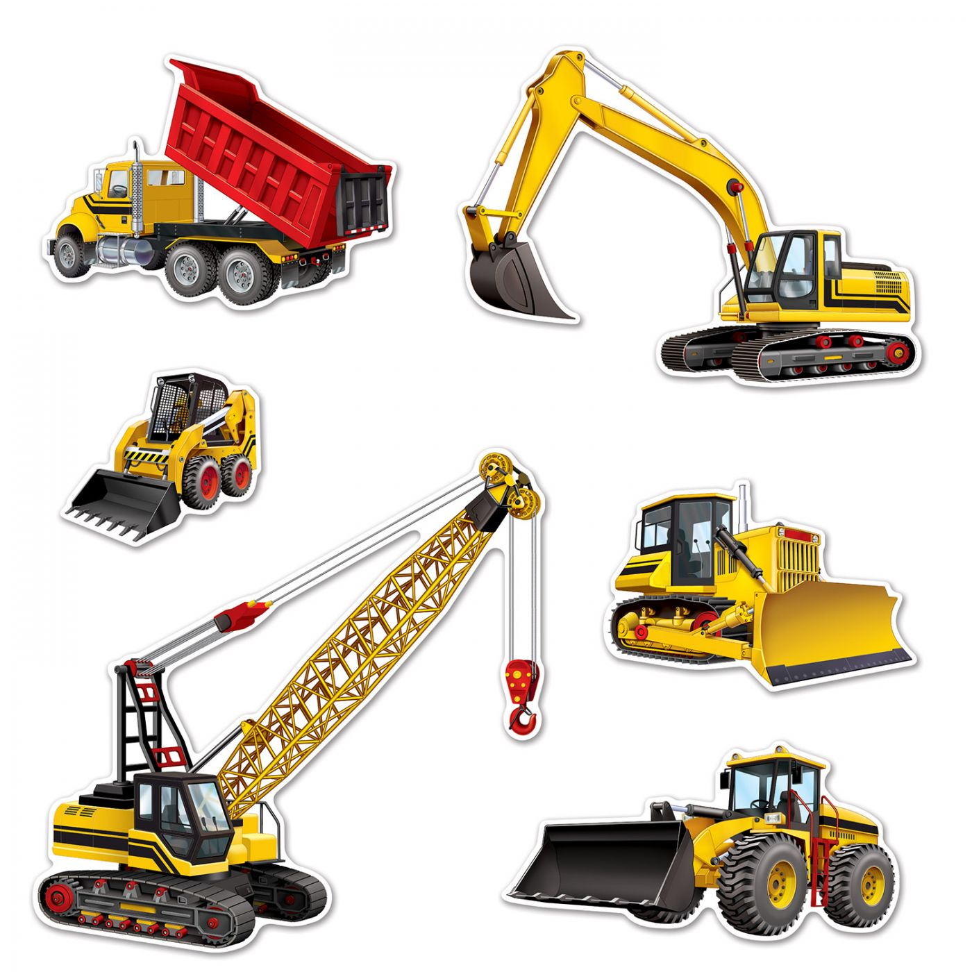Construction Equipment Cutouts image