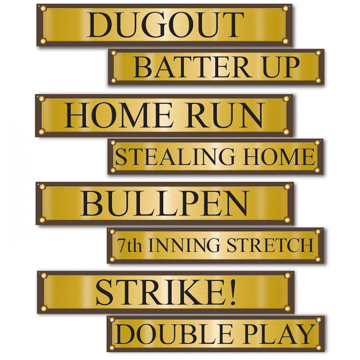 Image of Baseball Street Sign Cutouts