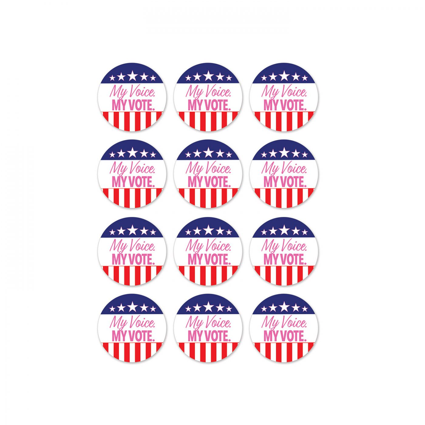 My Voice. My Vote. Stickers image