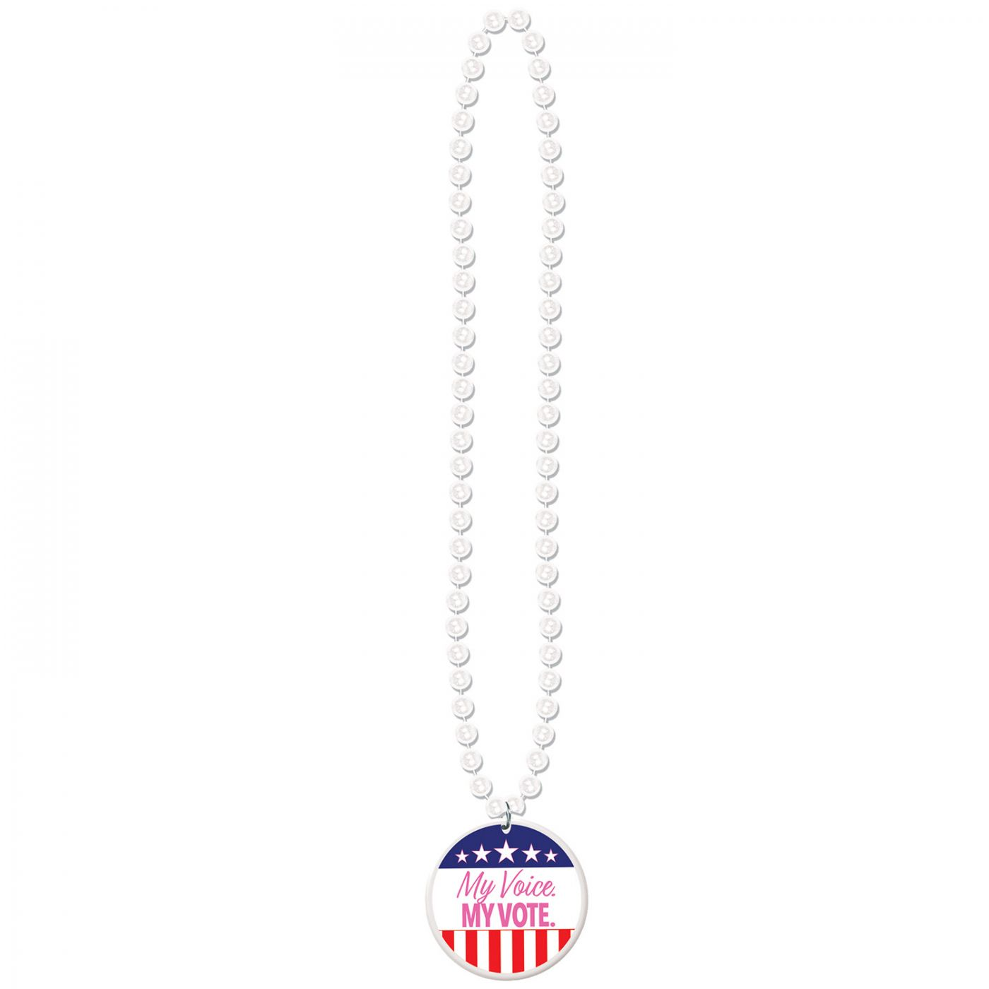 Image of Beads w/My Voice. My Vote. Medallion