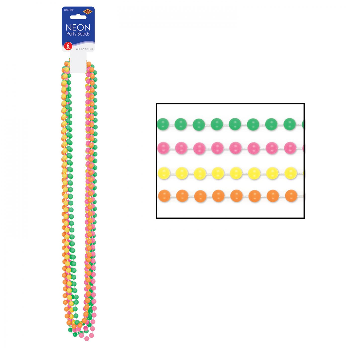 Neon Party Beads image
