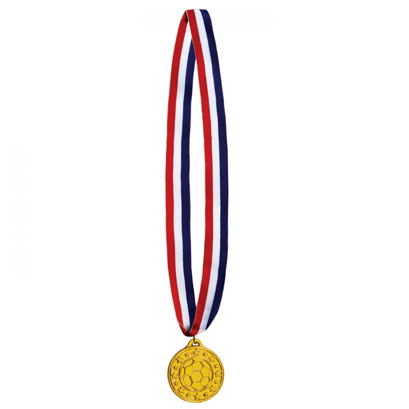Soccer Medal w/Ribbon image