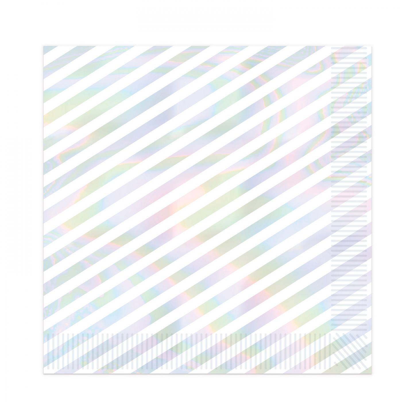 Iridescent Stripes Beverage Napkins image
