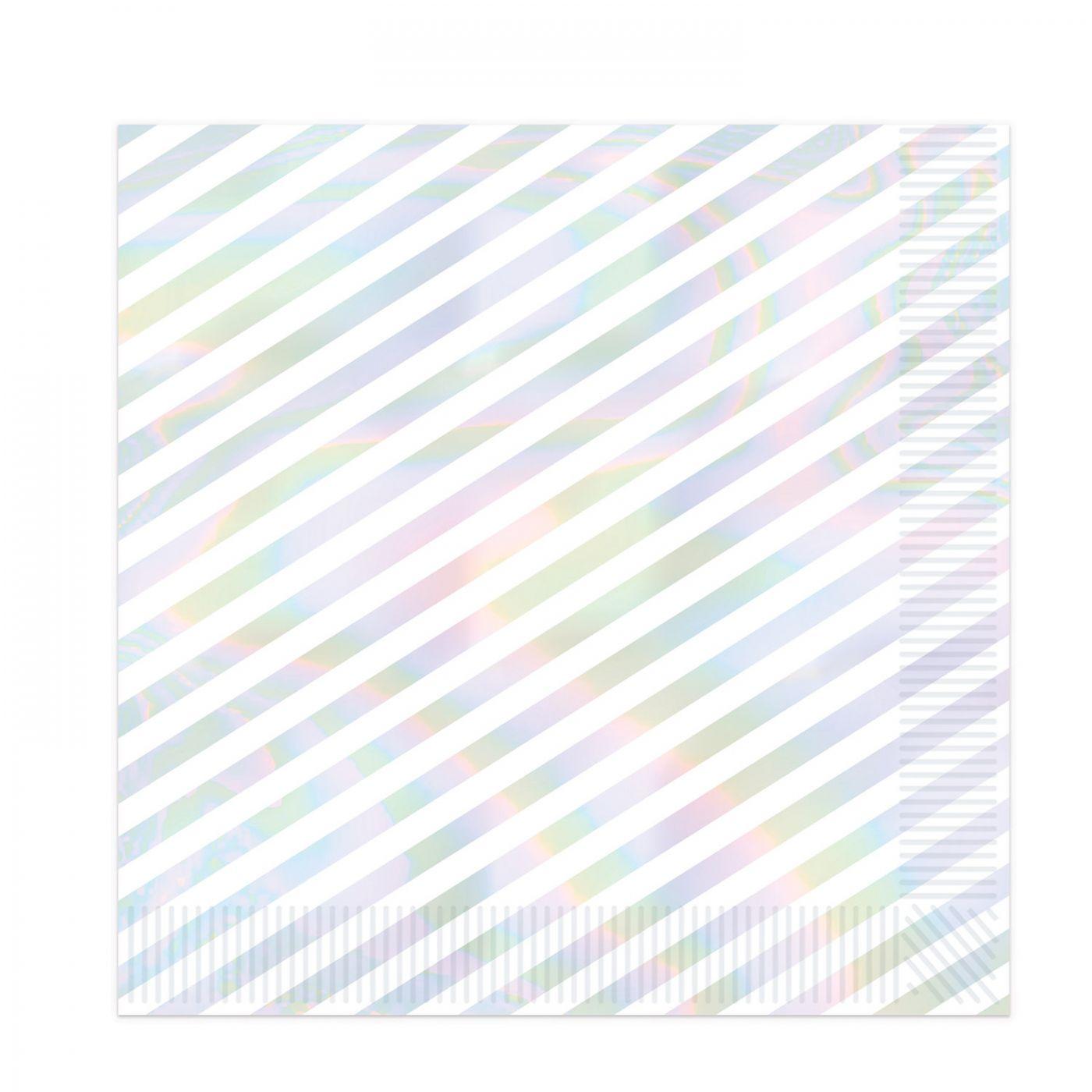Iridescent Stripes Luncheon Napkins image