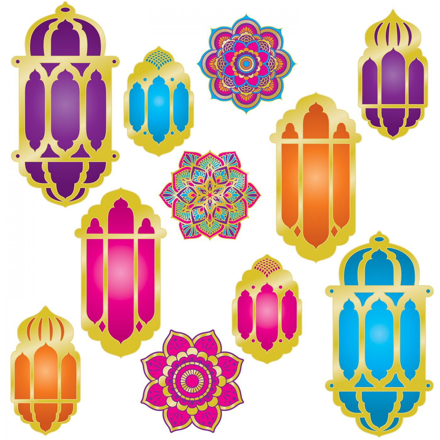 Foil Lantern & Mandala Cutouts image