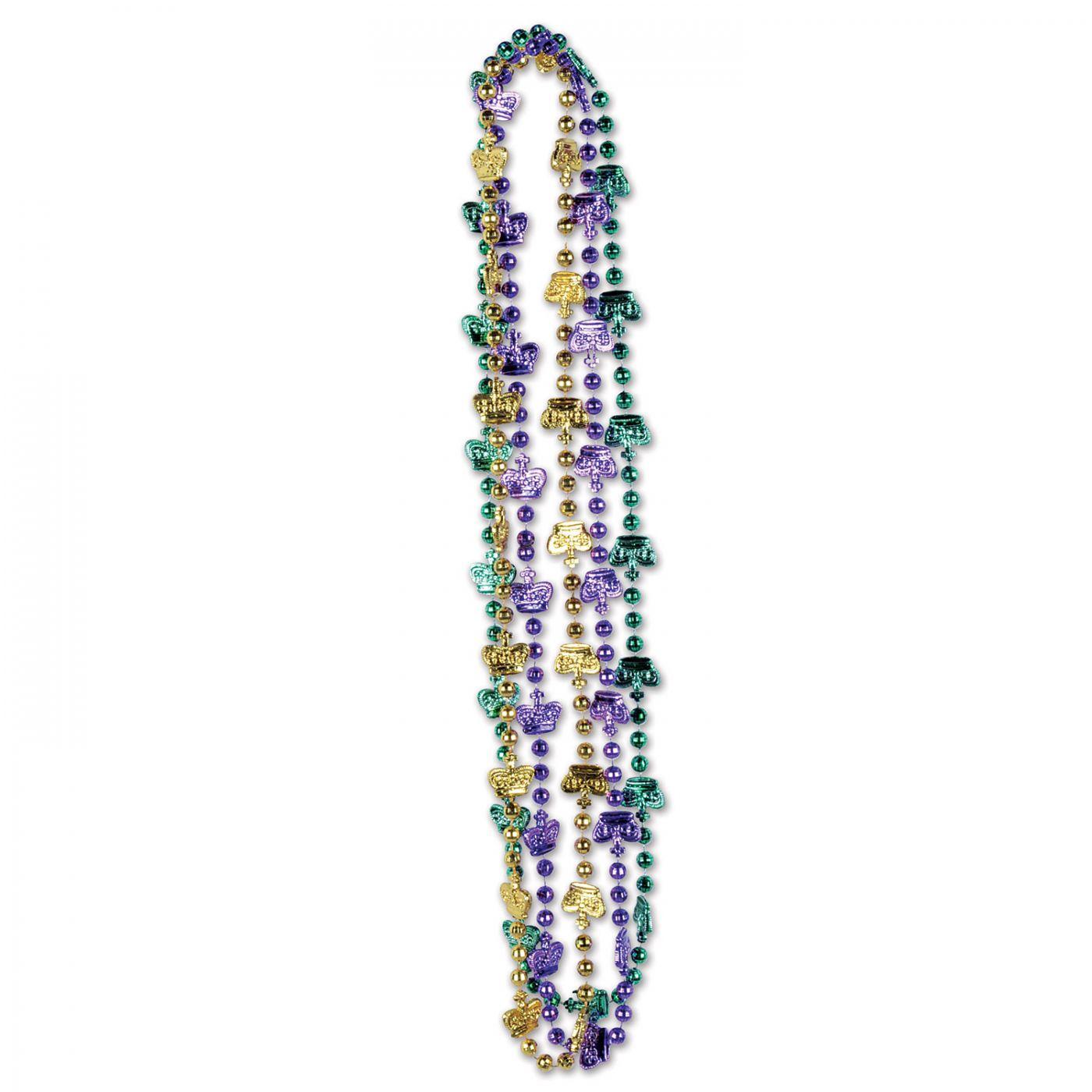 Mardi Gras Crown Beads image