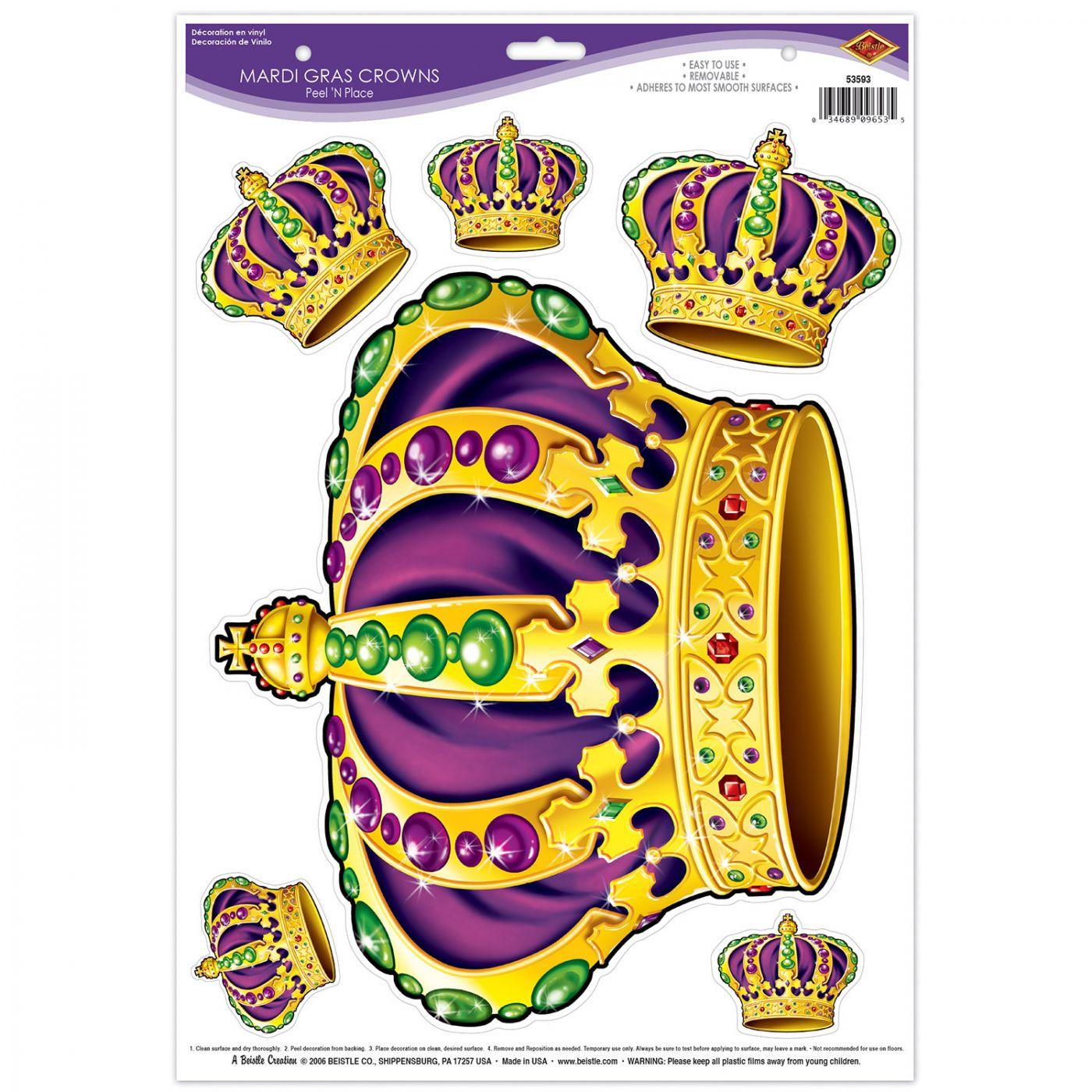 Mardi Gras Crowns Peel 'N Place image