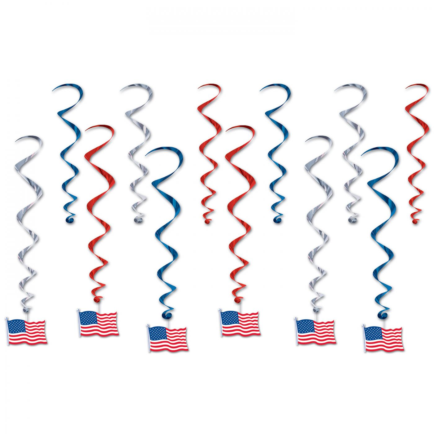 Image of American Flag Whirls