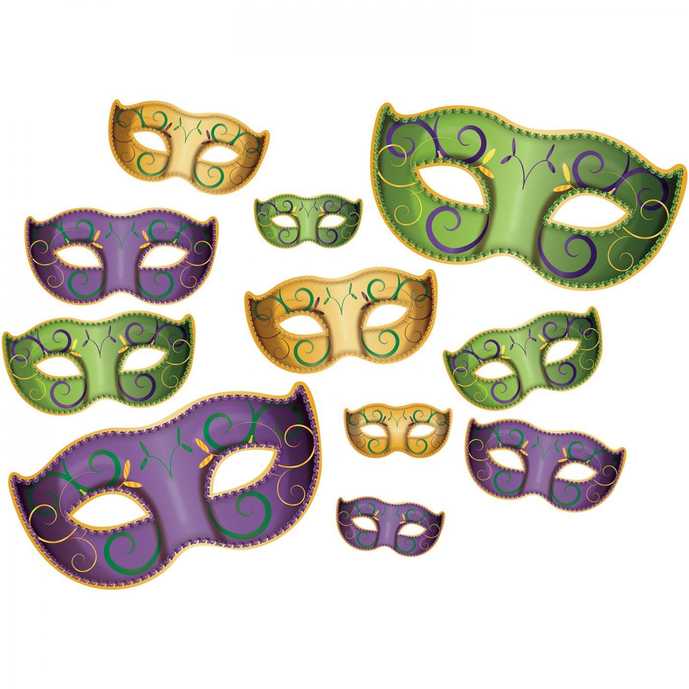 Mardi Gras Mask Cutouts image