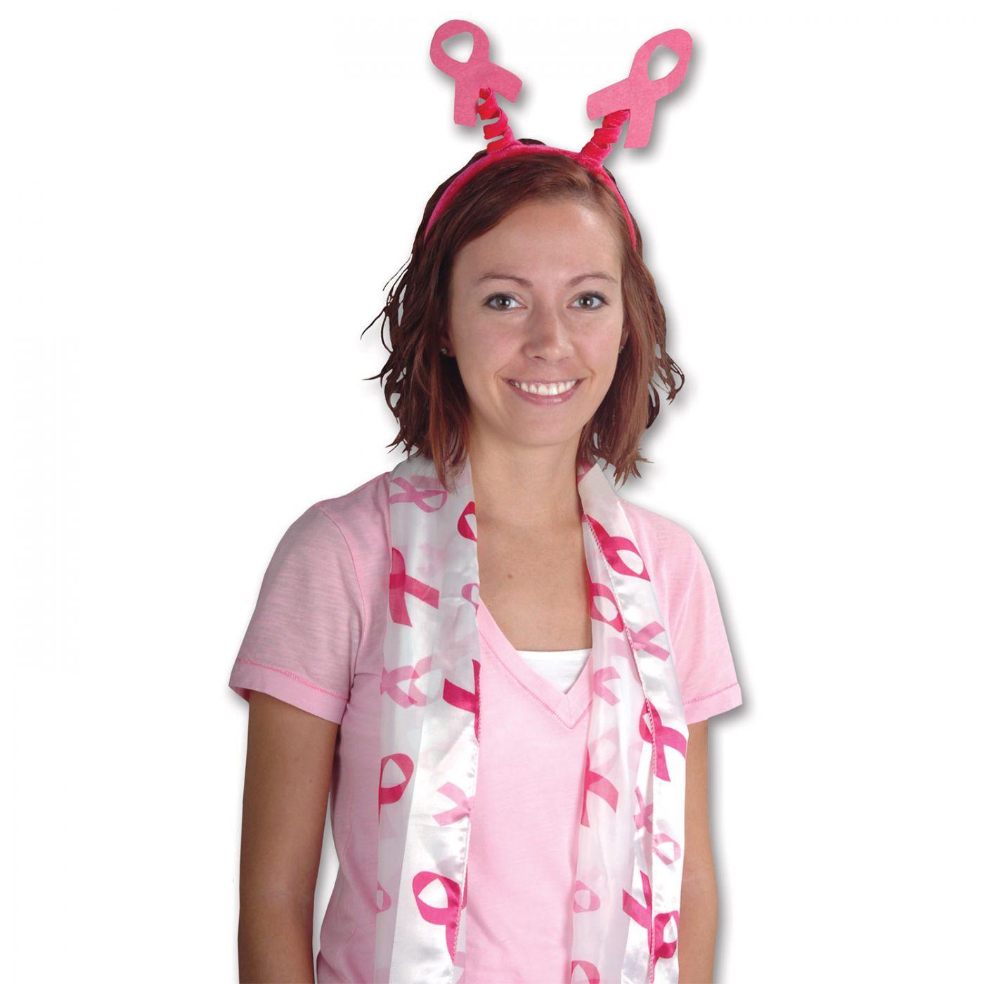 Pink Ribbon Scarf image