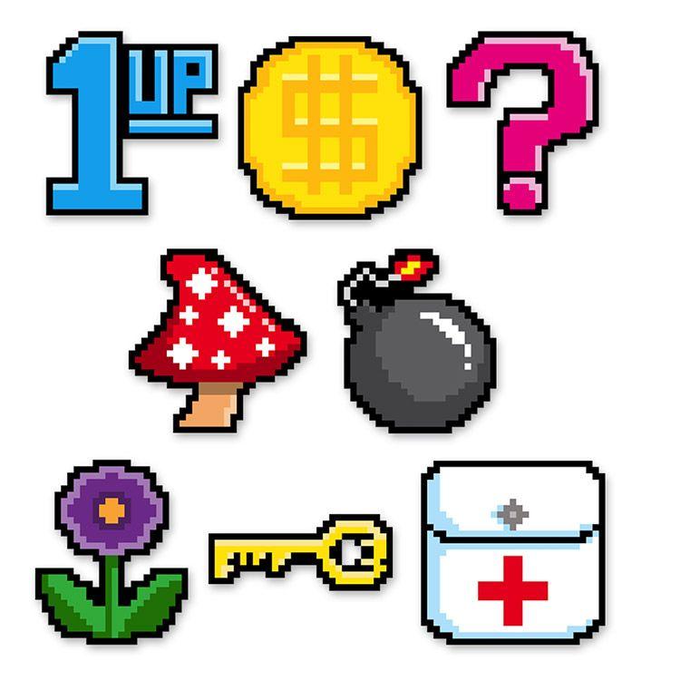 Mini 8-Bit Cutouts (24) image