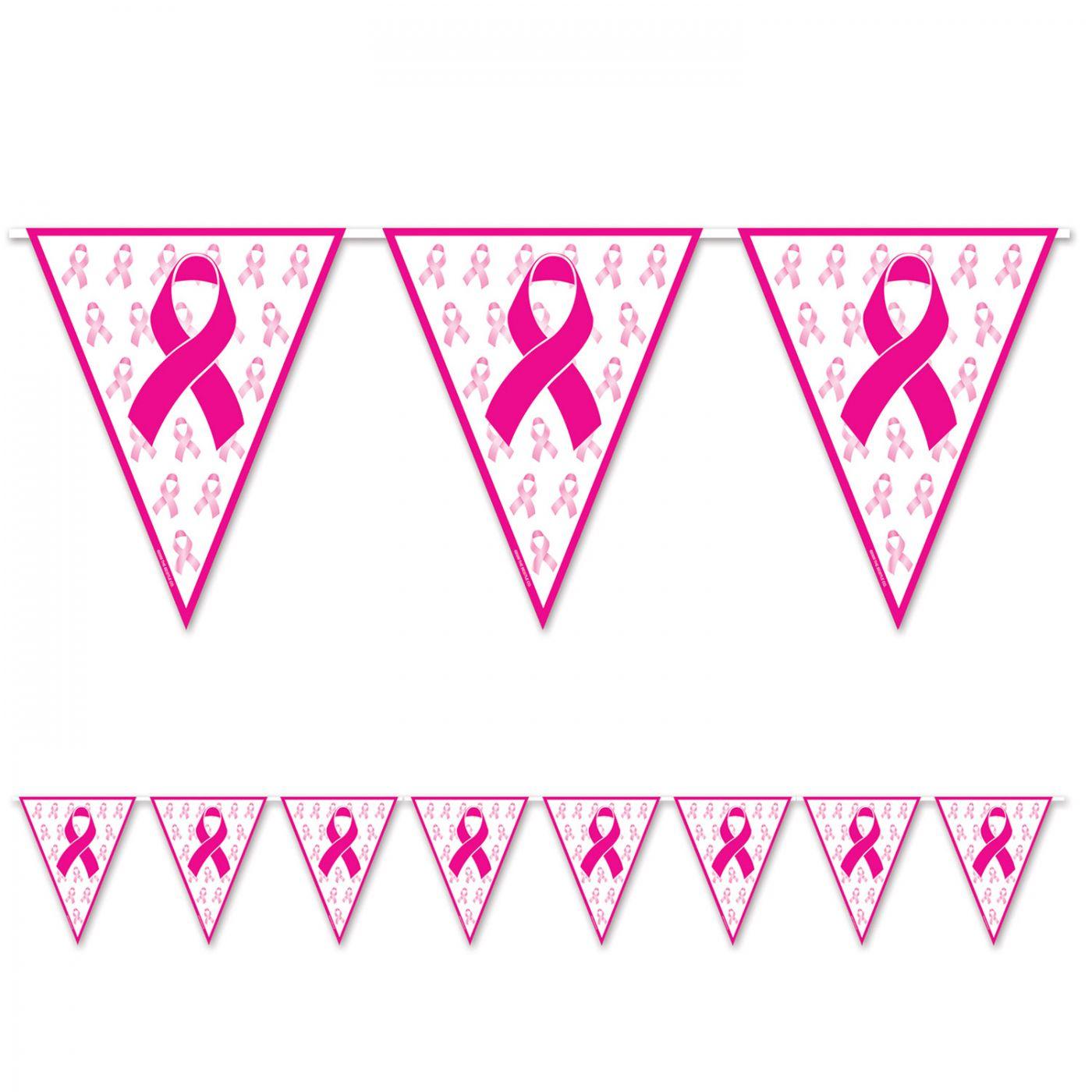 Pink Ribbon Pennant Banner image