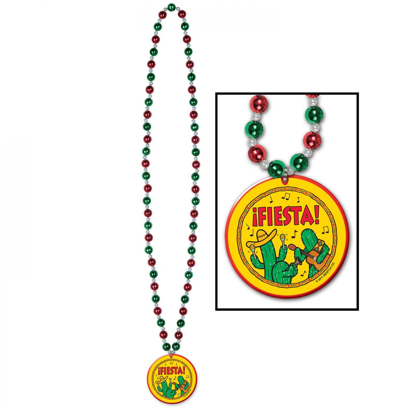 Image of Beads w/Fiesta! Medallion