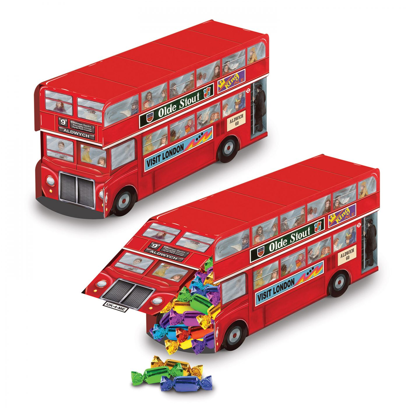 Double Decker Bus Centerpiece image