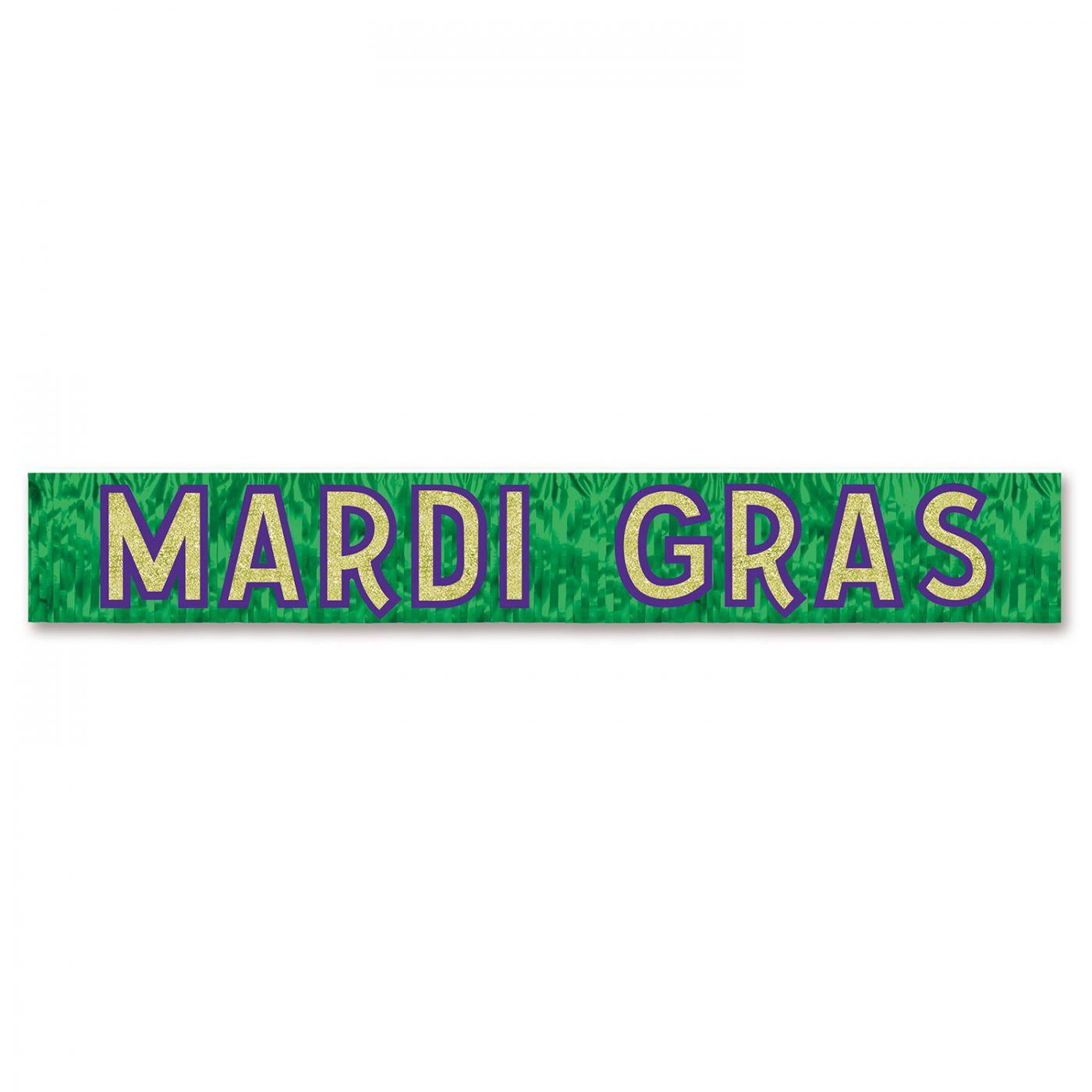 Metallic Mardi Gras Banner (6) image