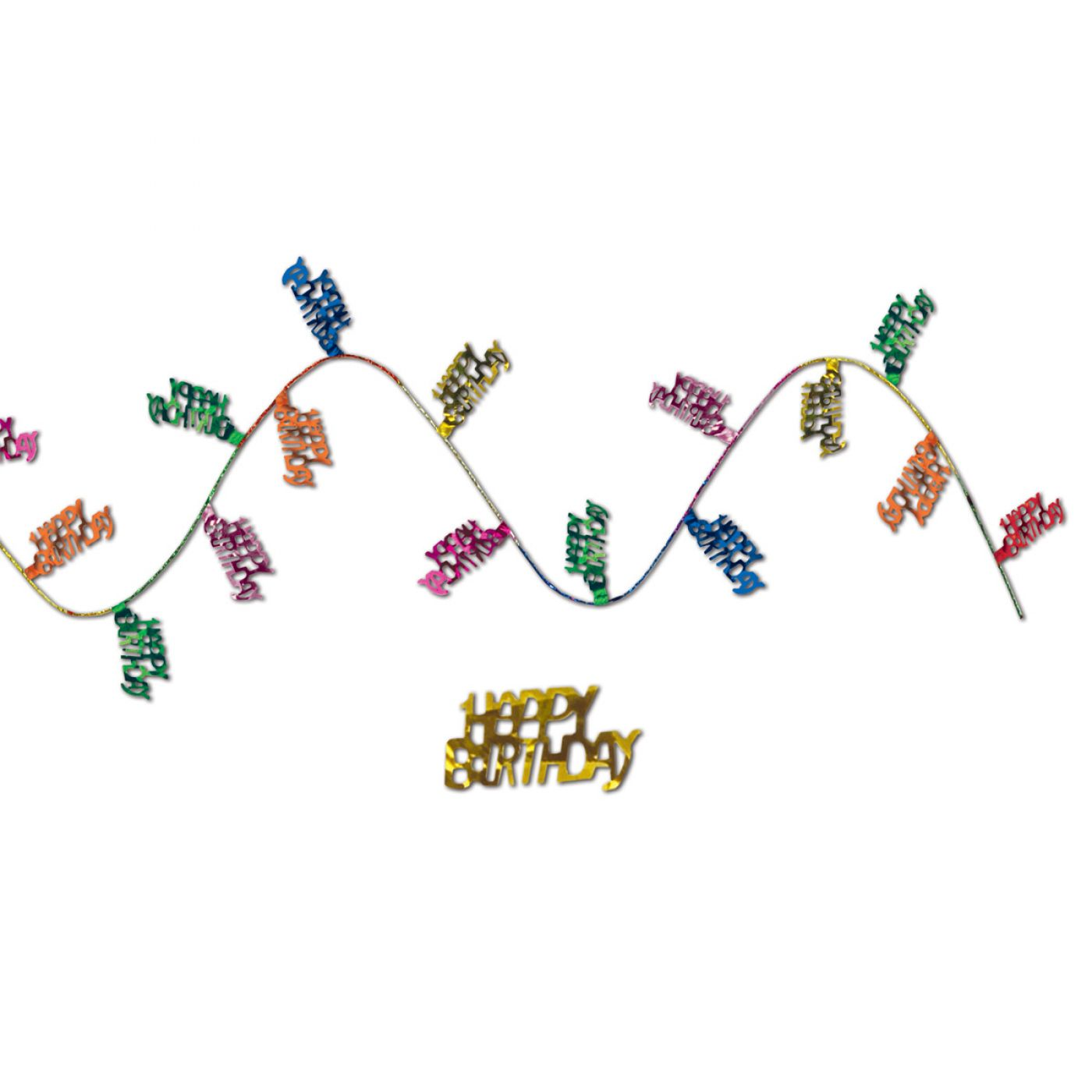 Gleam 'N Flex Happy Birthday Garland image