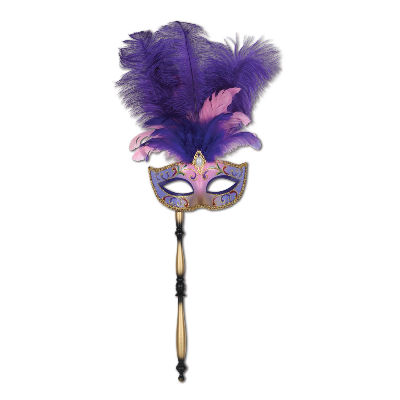Feathered Mask w/Stick image