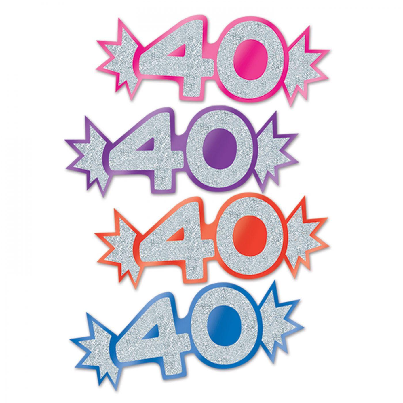 Mini Glittered Foil  40  Cutouts (24) image