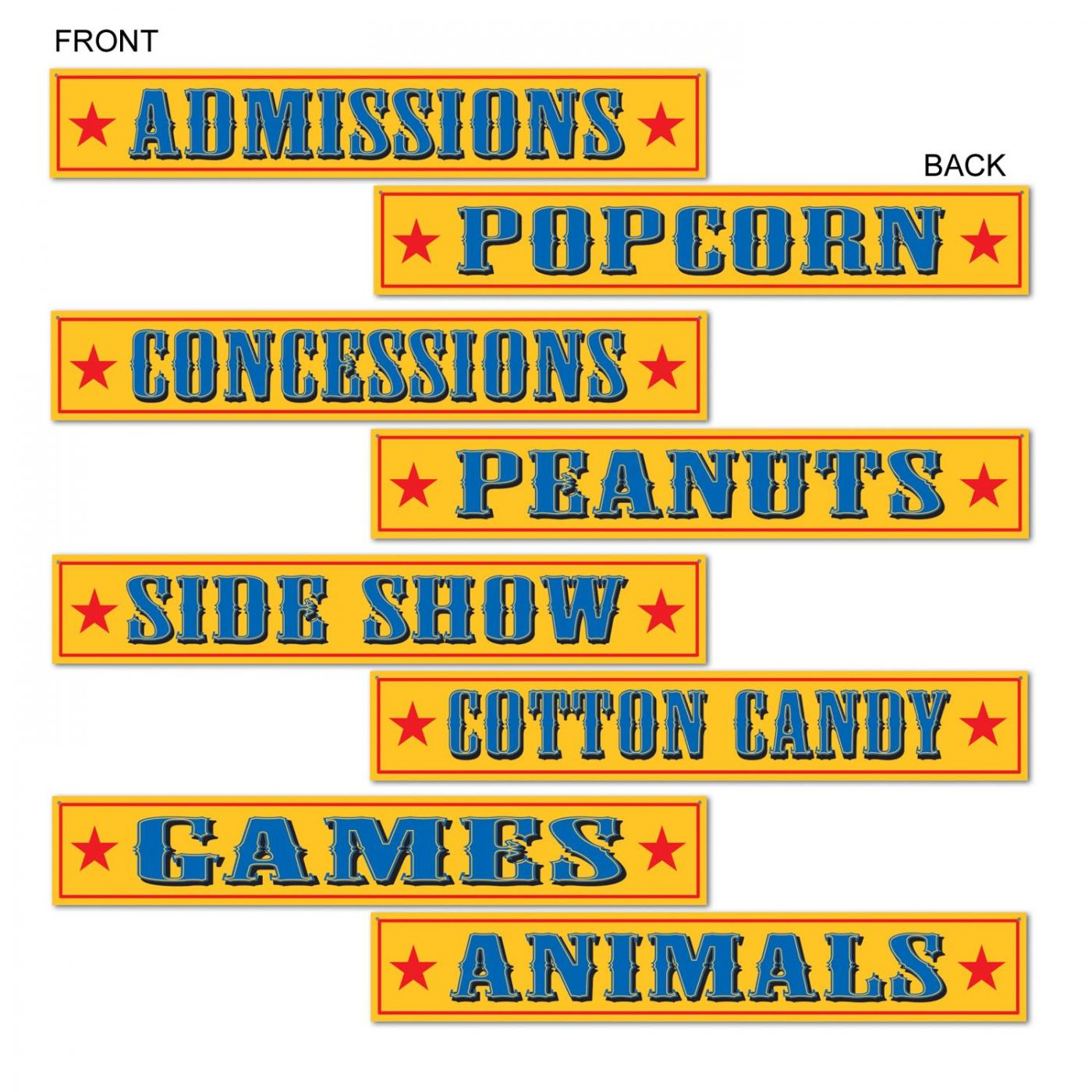 Circus Sign Cutouts image