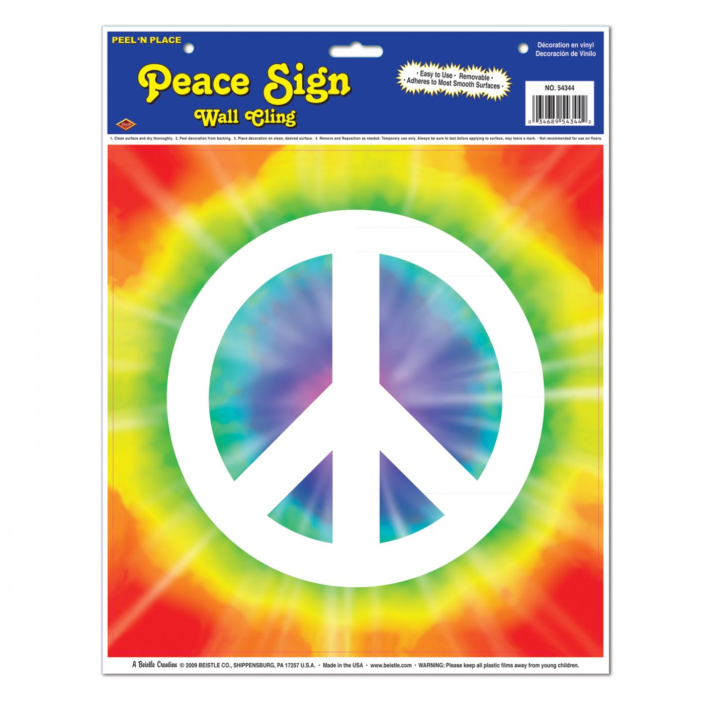 Peace Sign Peel 'N Place image