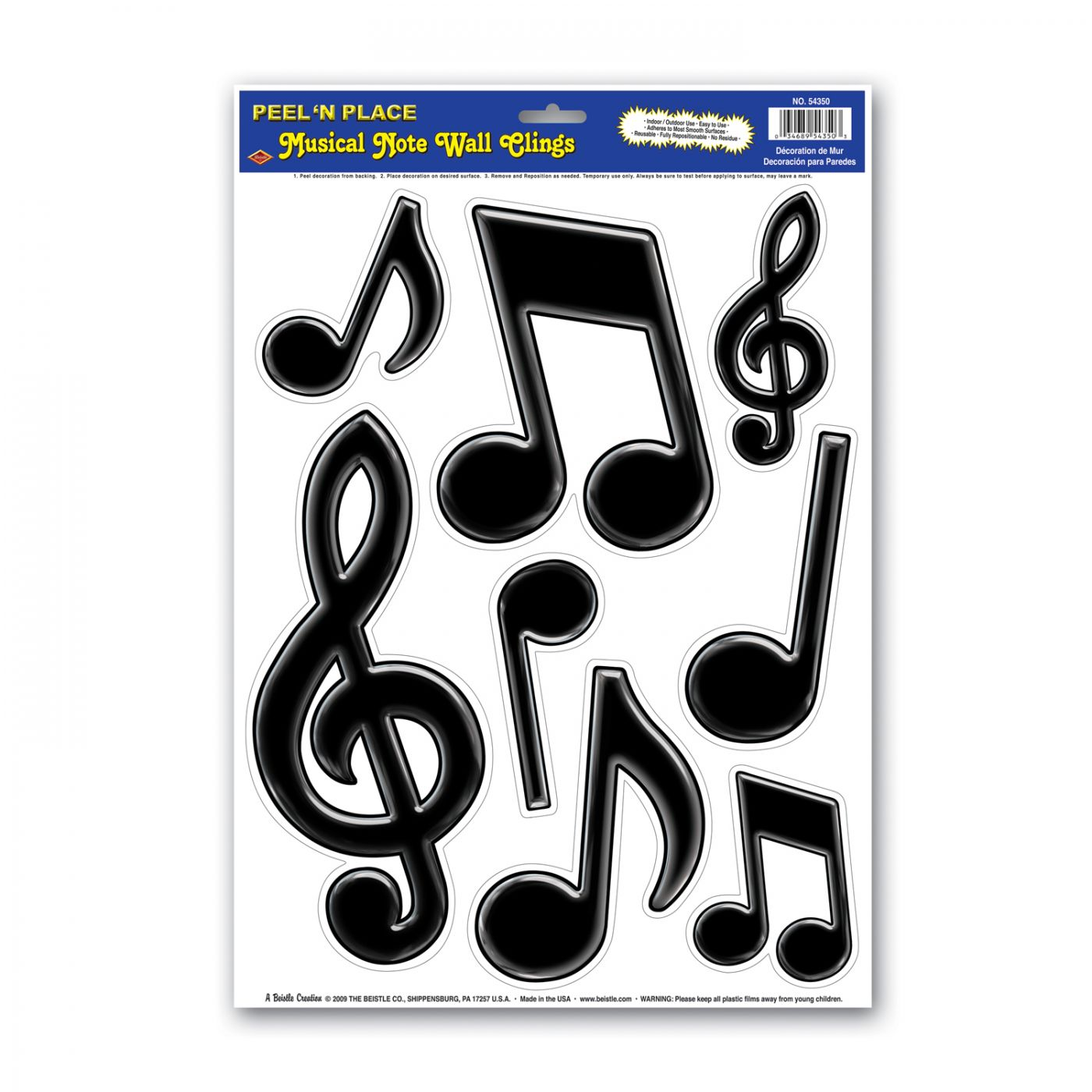 Musical Notes Peel 'N Place image
