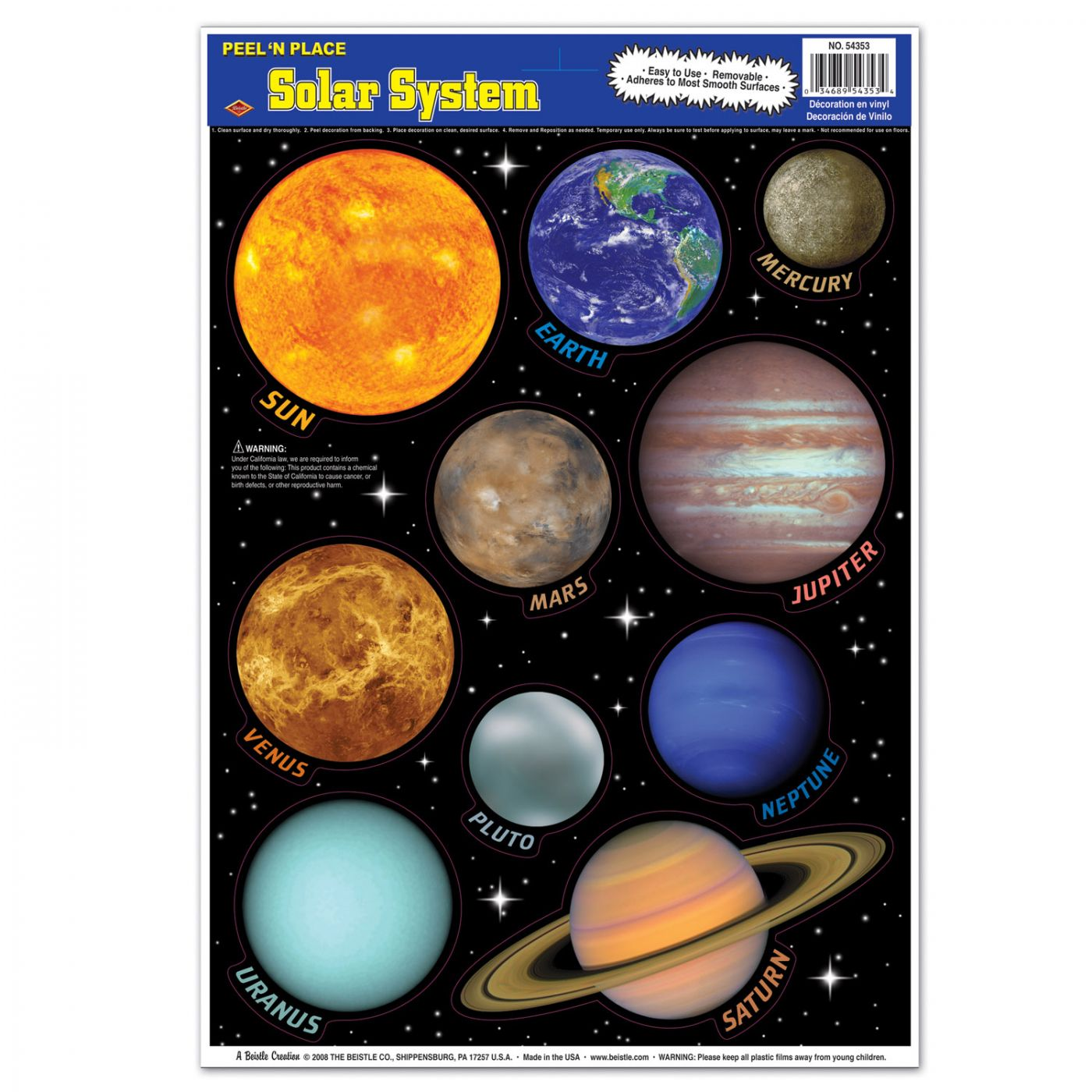 Solar System Peel 'N Place image