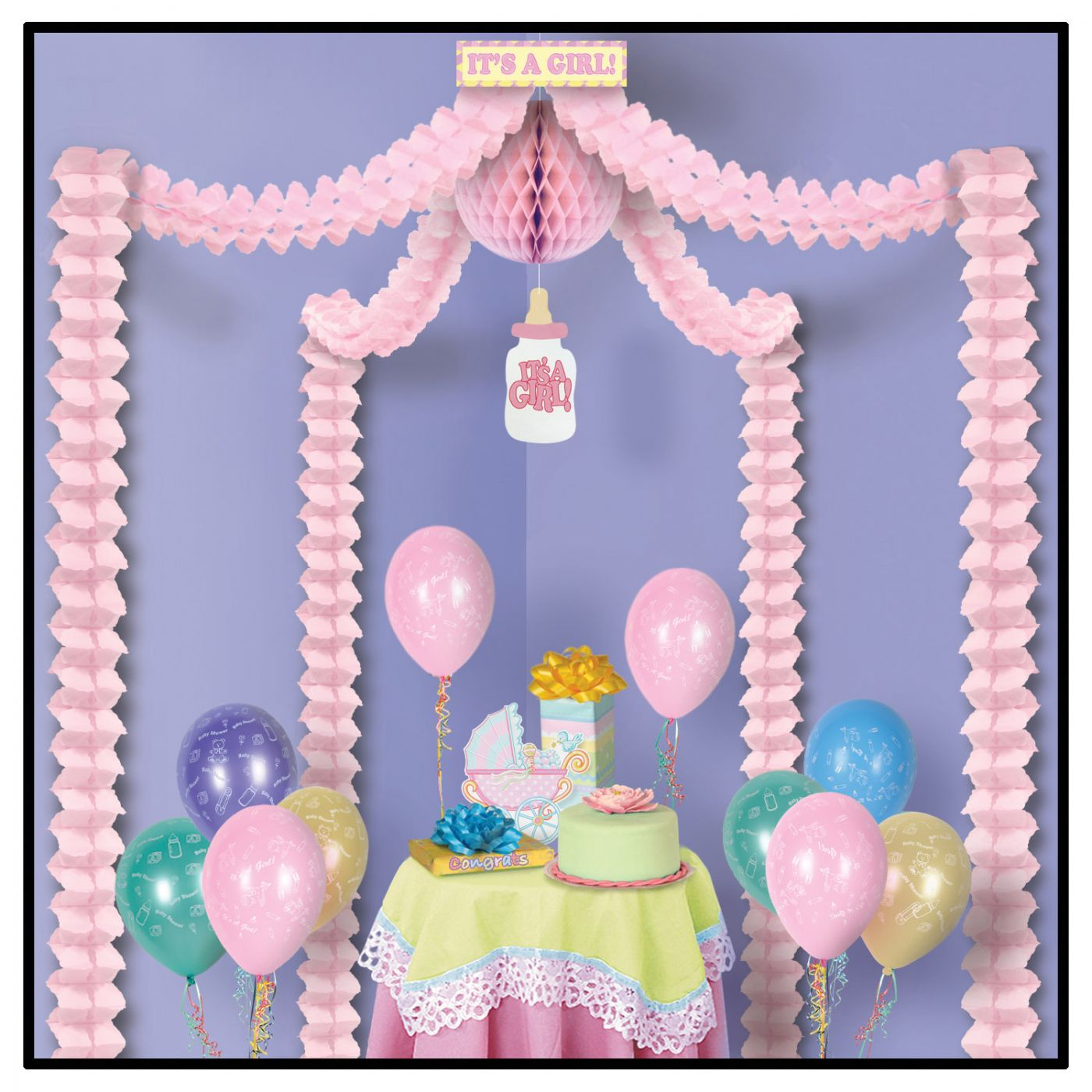 It's A Girl! Party Canopy (6) image