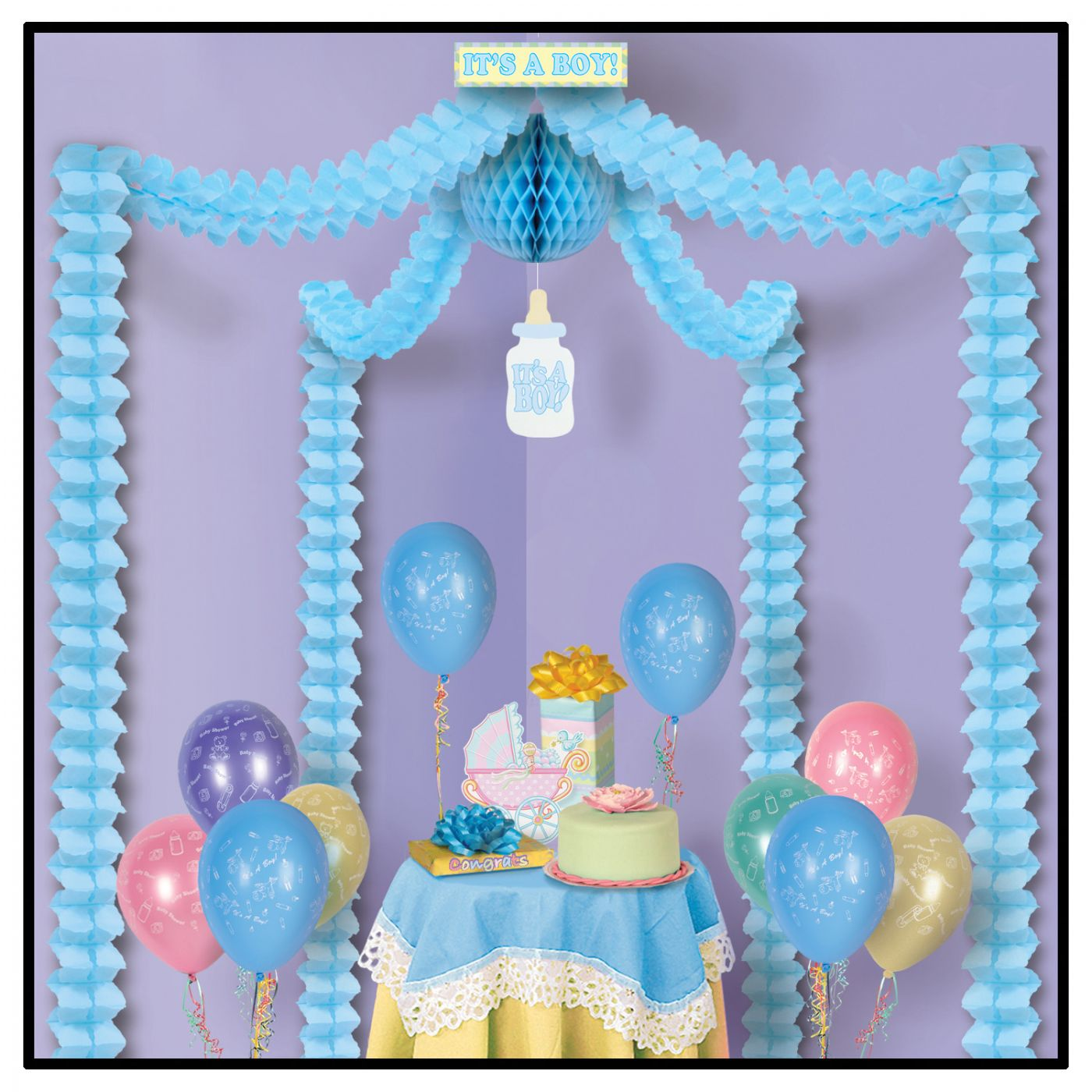 It's A Boy! Party Canopy (6) image