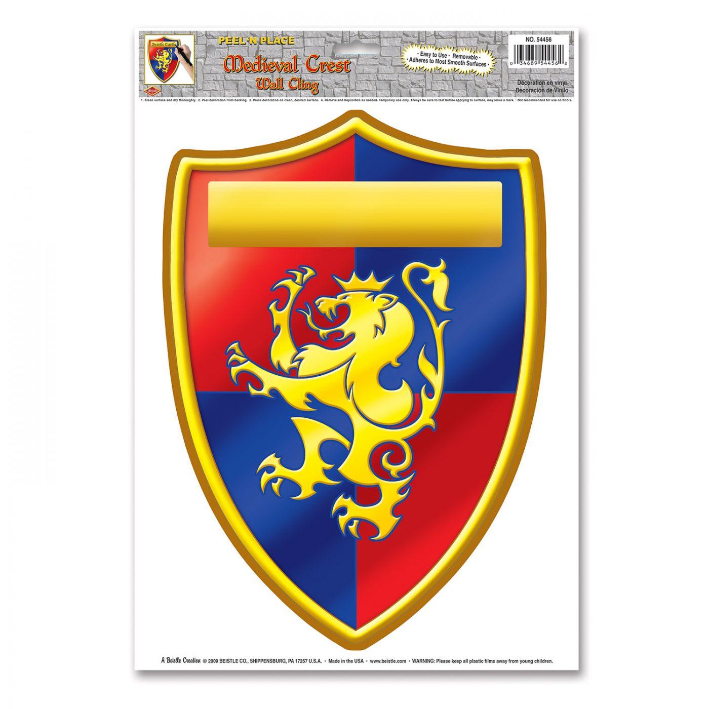 Medieval Crest Peel 'N Place image