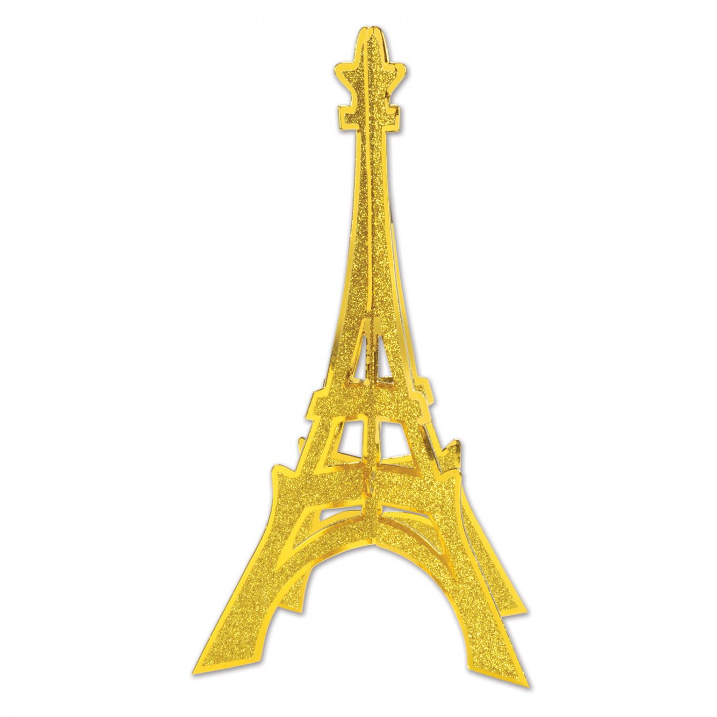 3-D Glittered Eiffel Tower Centerpiece image